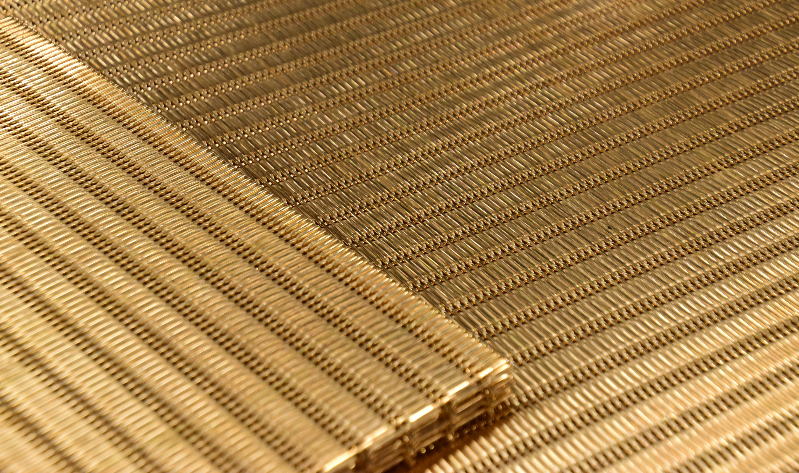 DF-1 Bronze woven wire mesh formed on press brake