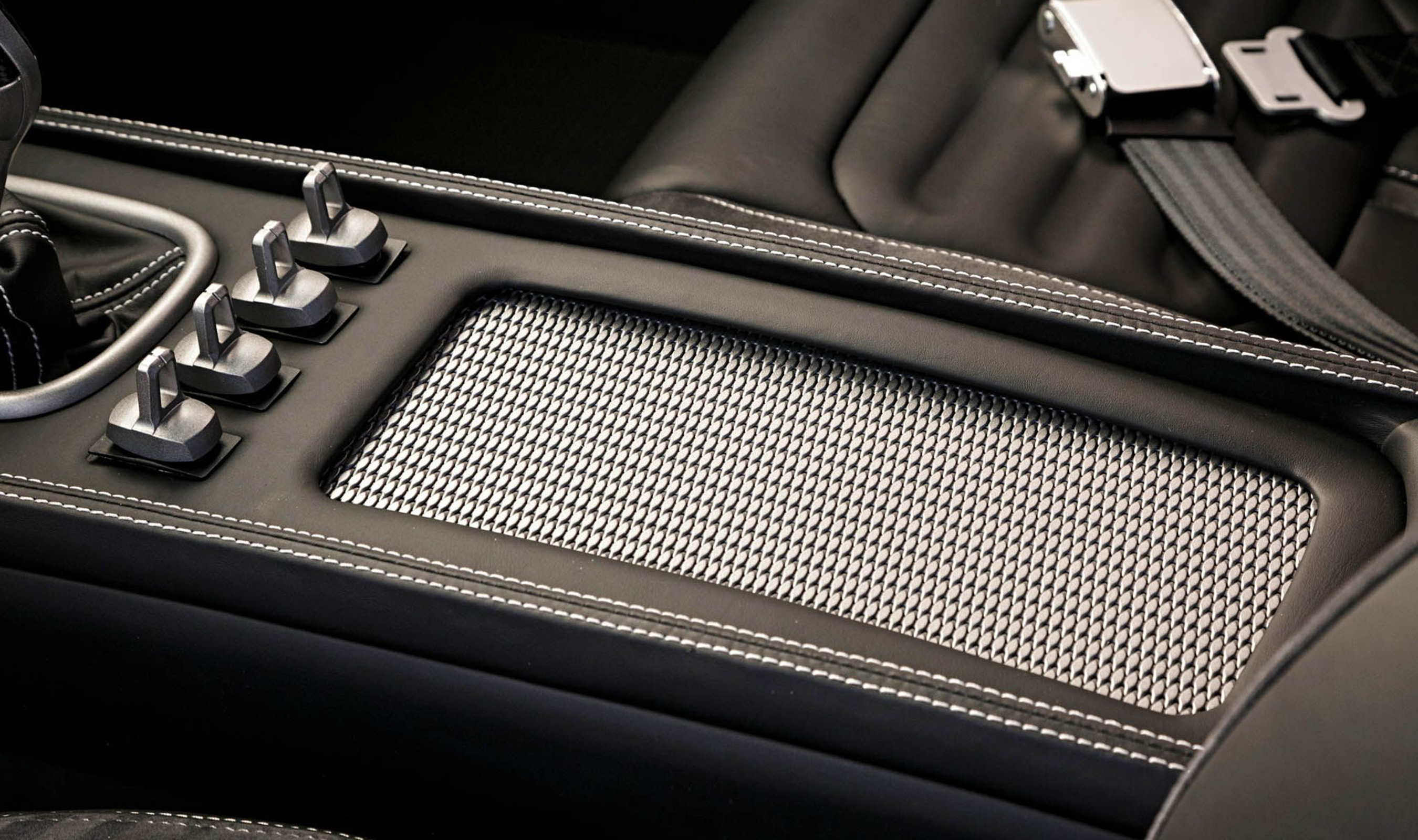 DS-2 Opaque Style wire mesh used as accent material for this automotive restoration.