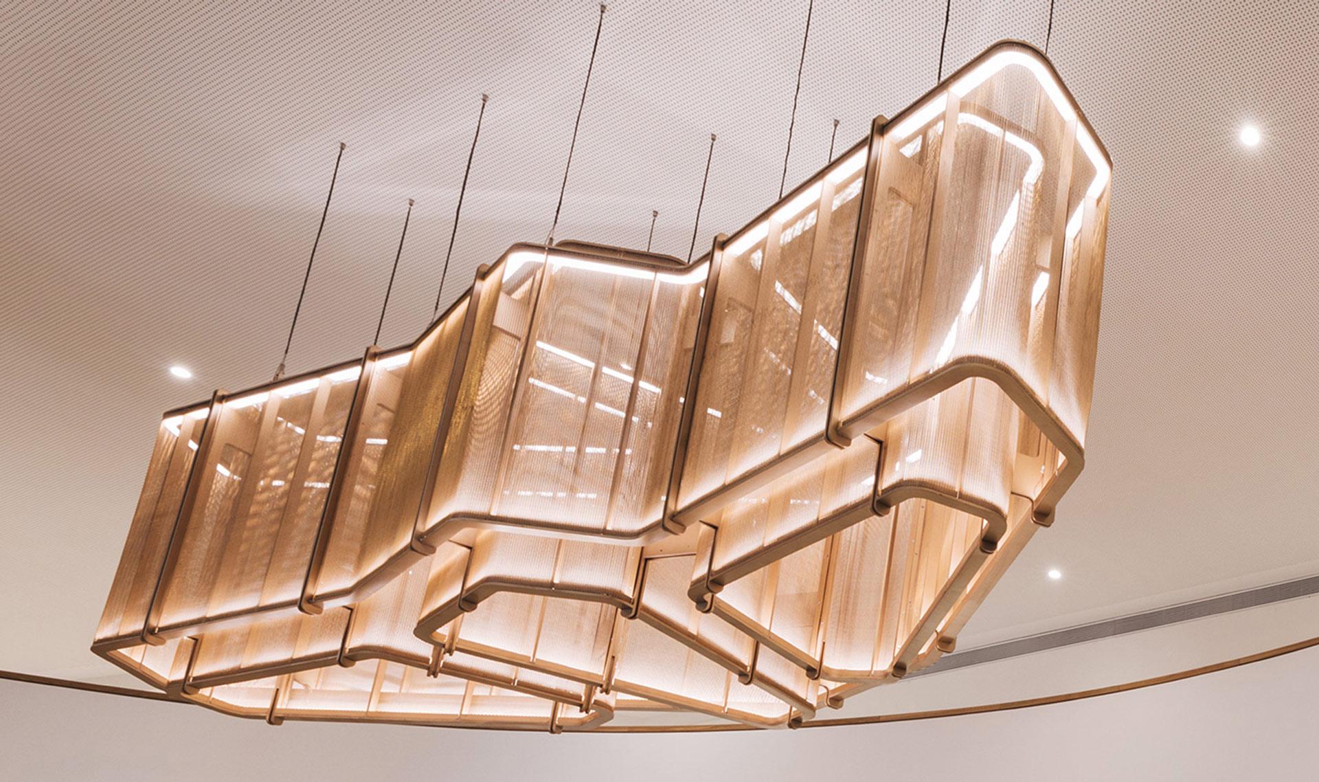 IPZ-25 woven wire mesh chandelier