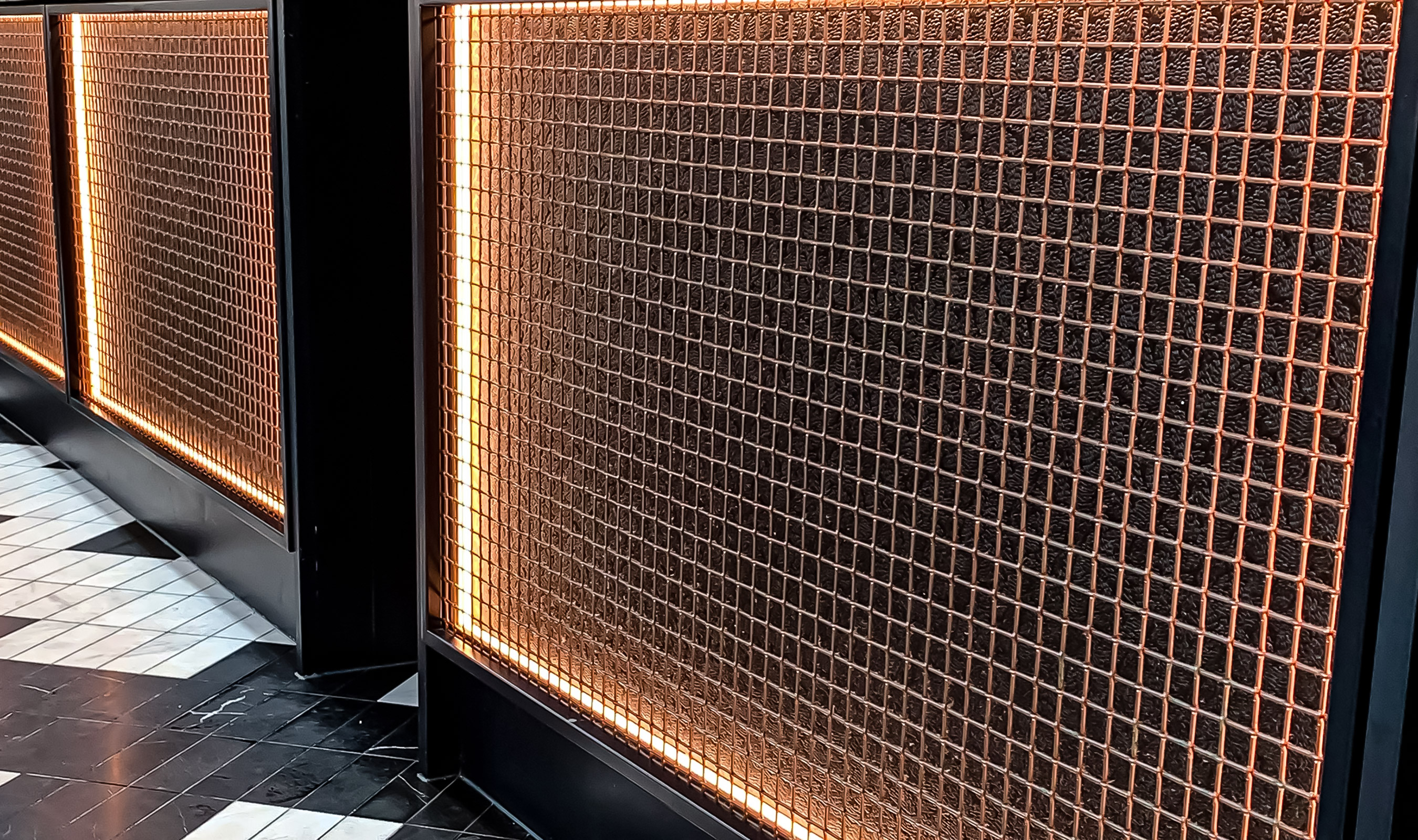 L-81 Copper wire mesh restaurant furniture
