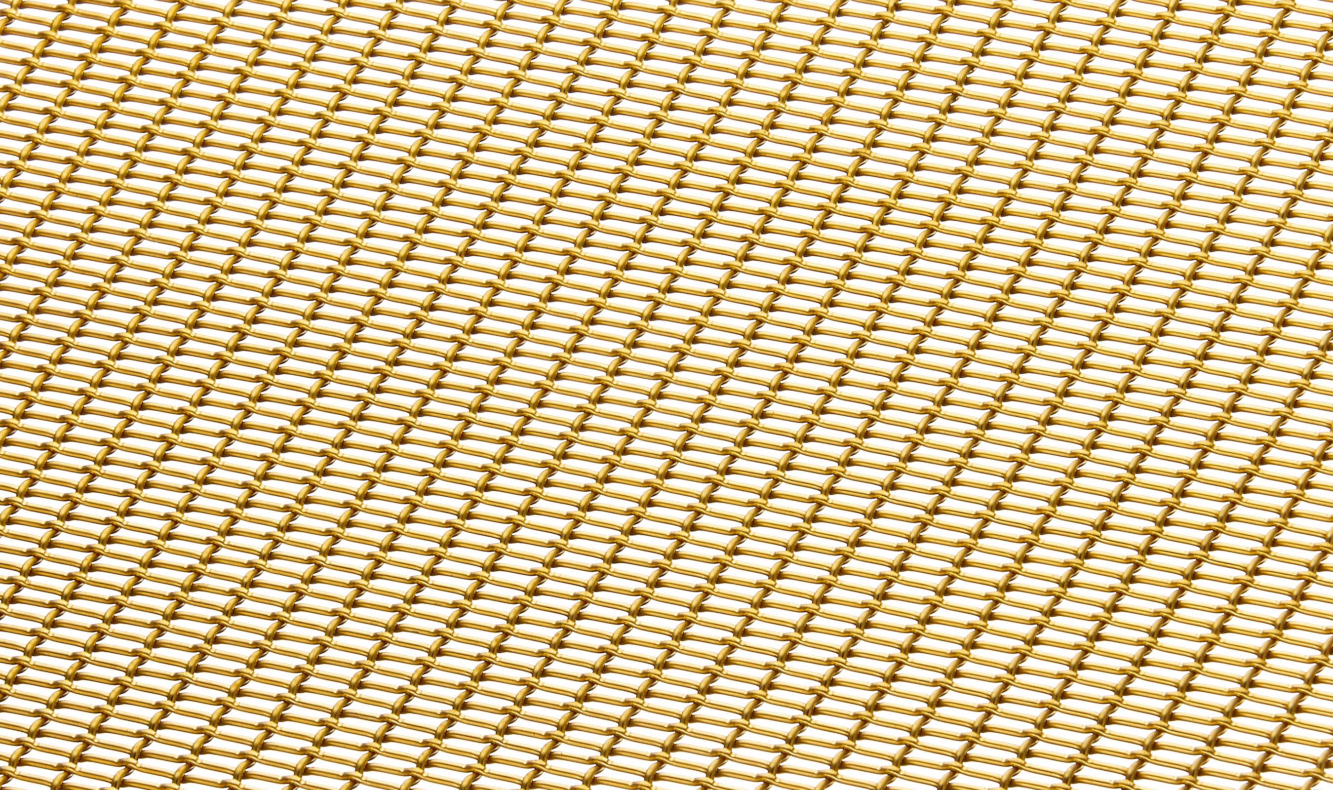 Banker Wire's LPZ-71 decorative woven wire mesh in brass