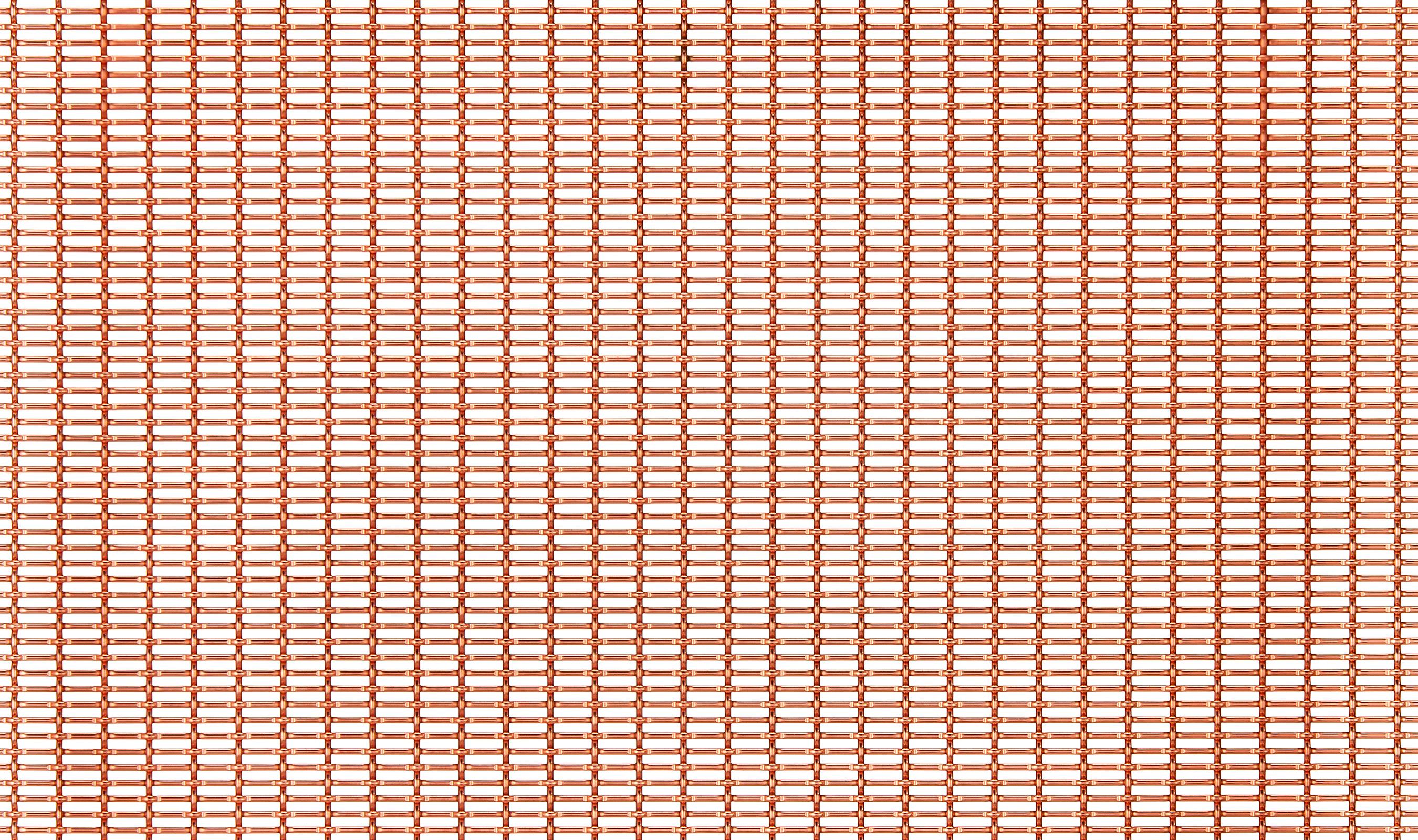 LPZ-71 Bright Copper Plated decorative woven wire mesh