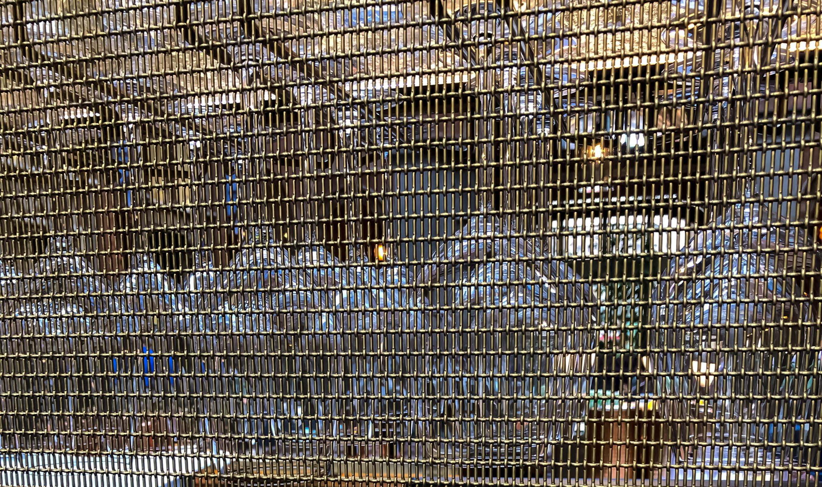 LPZ-71 Naturally Aged Brass wire mesh pattern