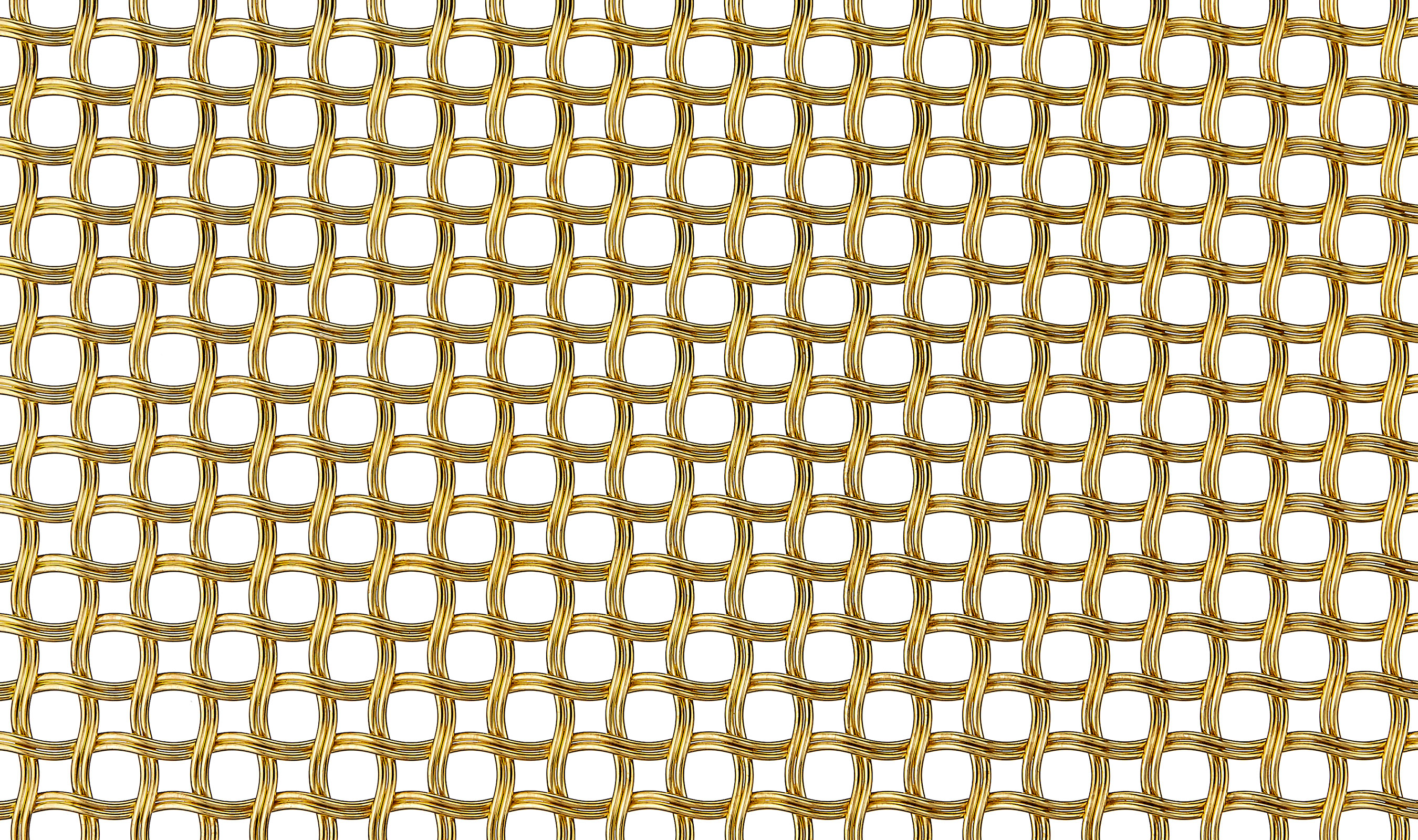M22-83 decorative wire mesh pattern in Bright Brass Plated