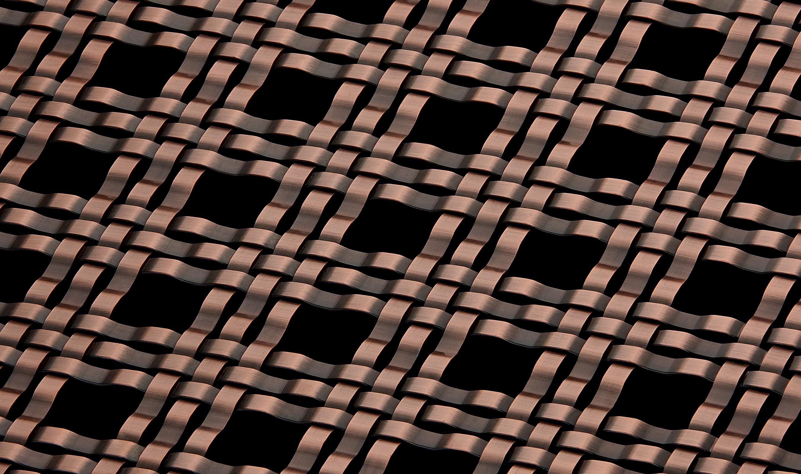 M33-5 Antique Copper Plated decorative wire mesh pattern