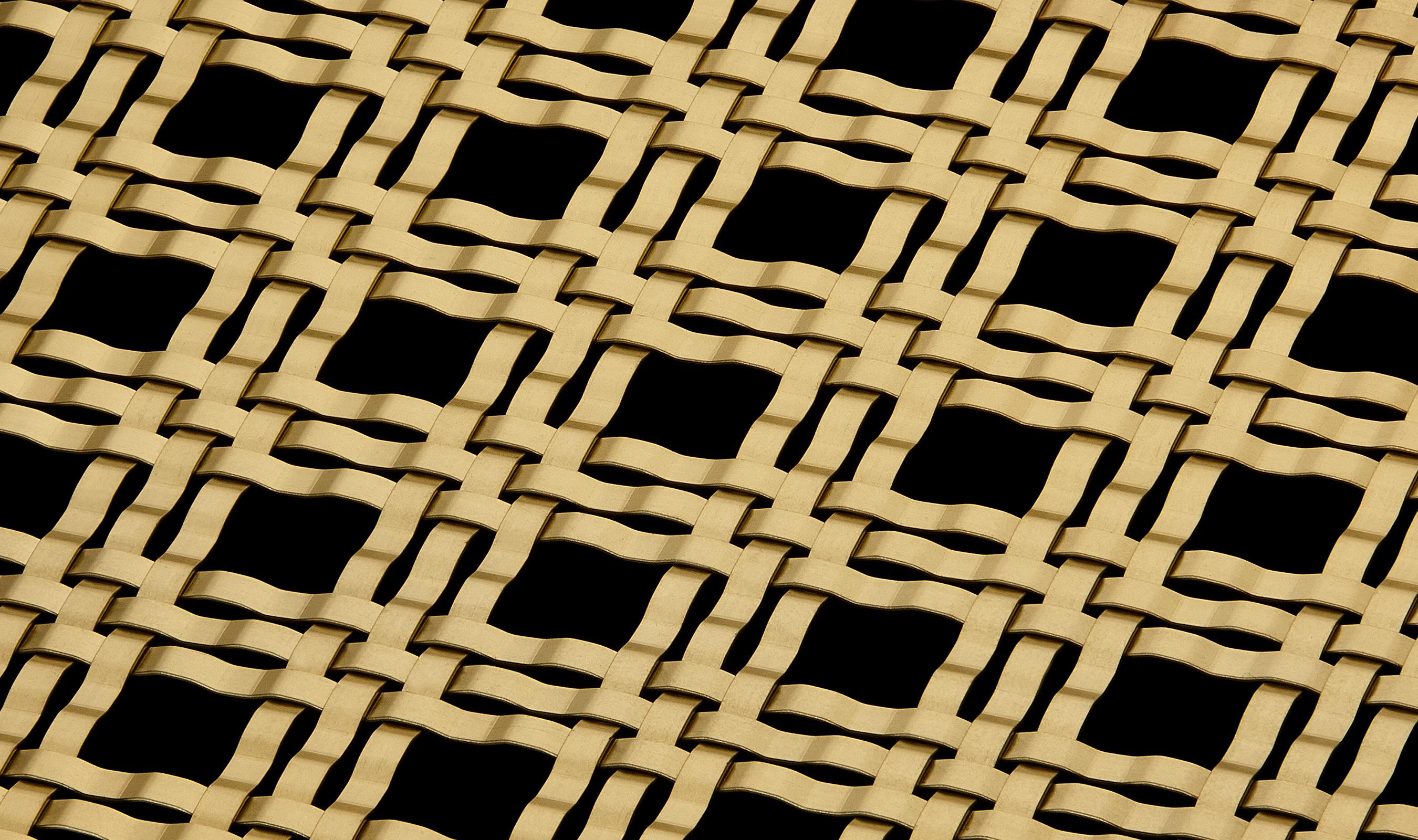 M33-5 Satin Brass Plated decorative mesh