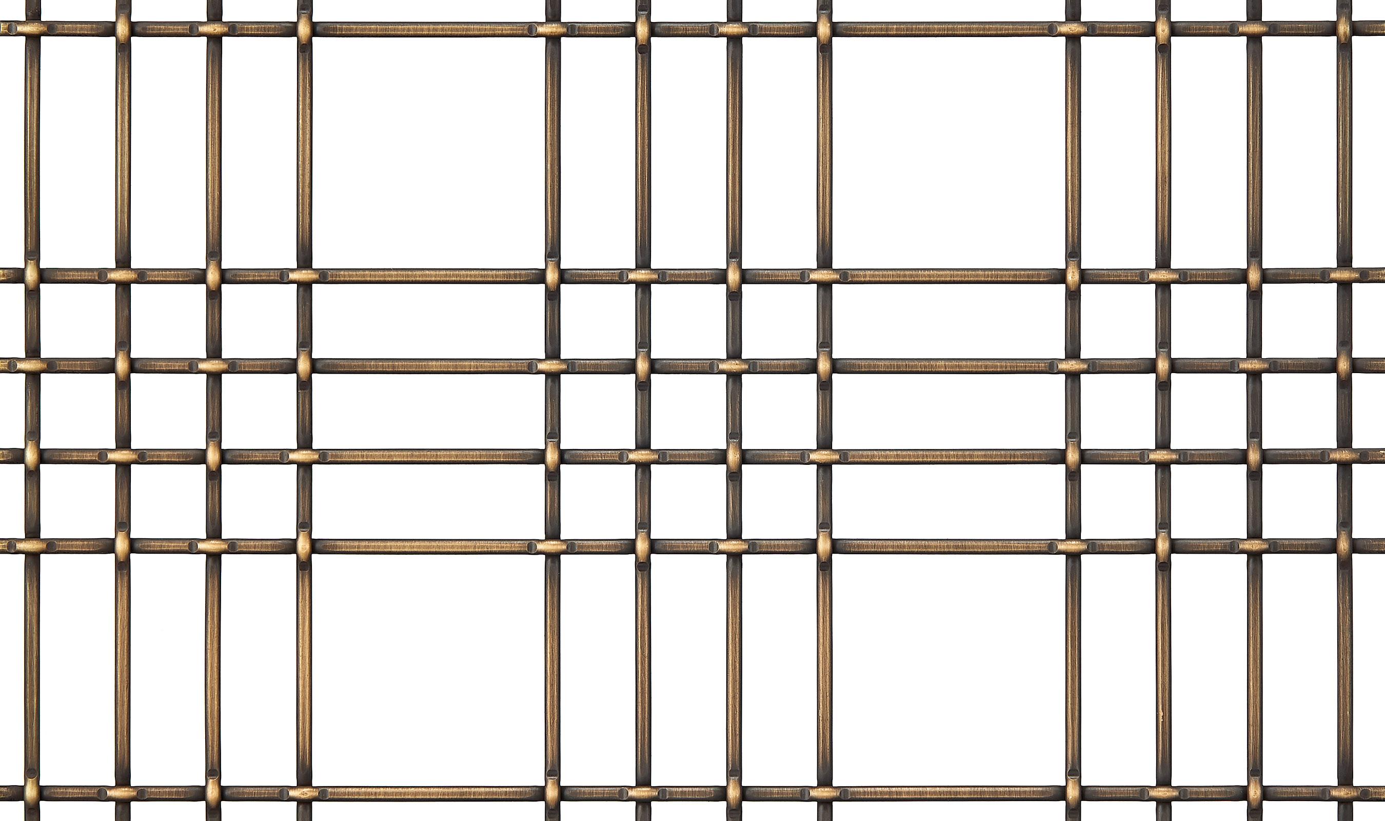 M44-2 Antique Brass Plated decorative wire mesh pattern