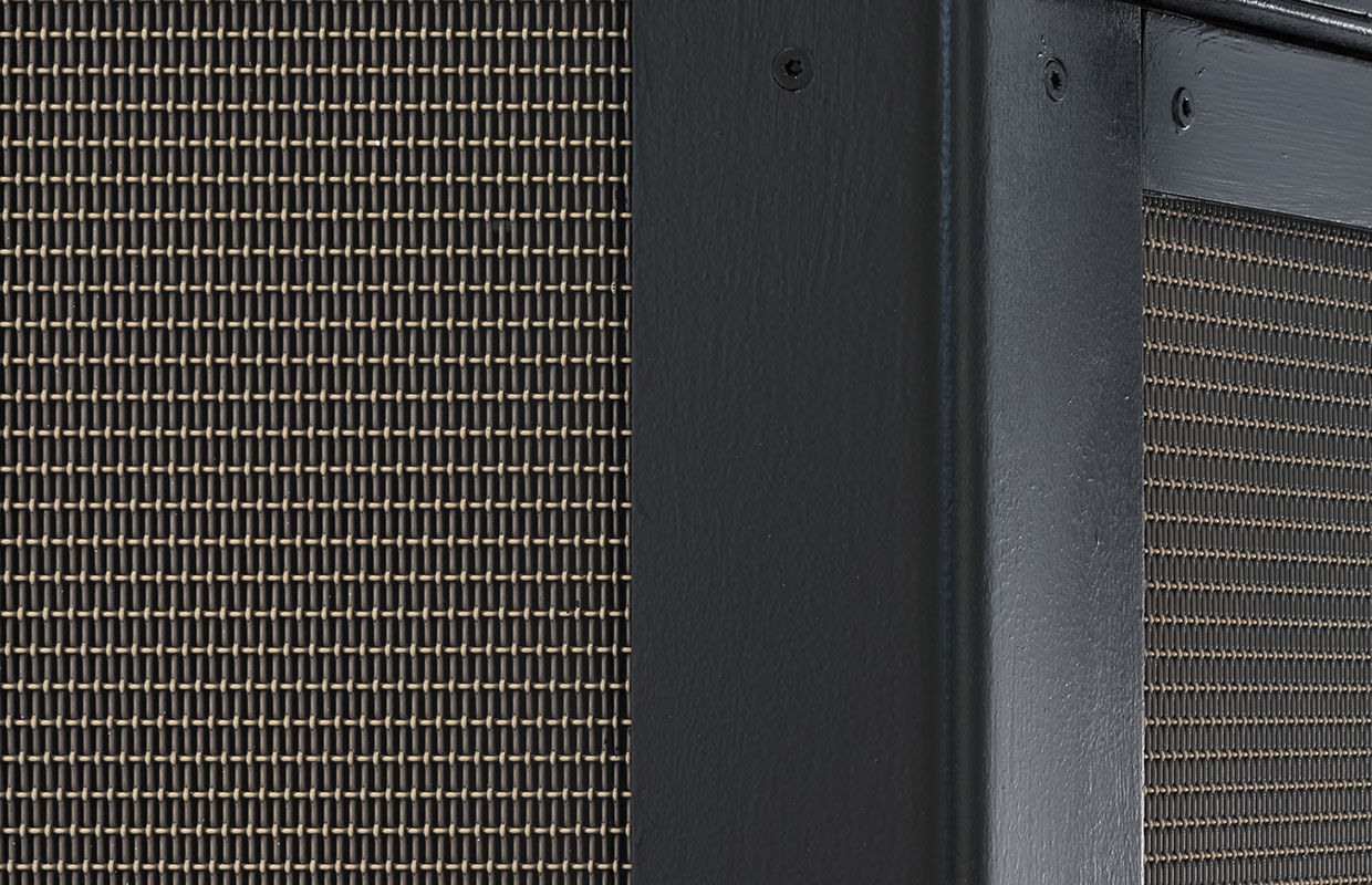 LPZ-71 Antique Brass wire mesh used as an elevator surround