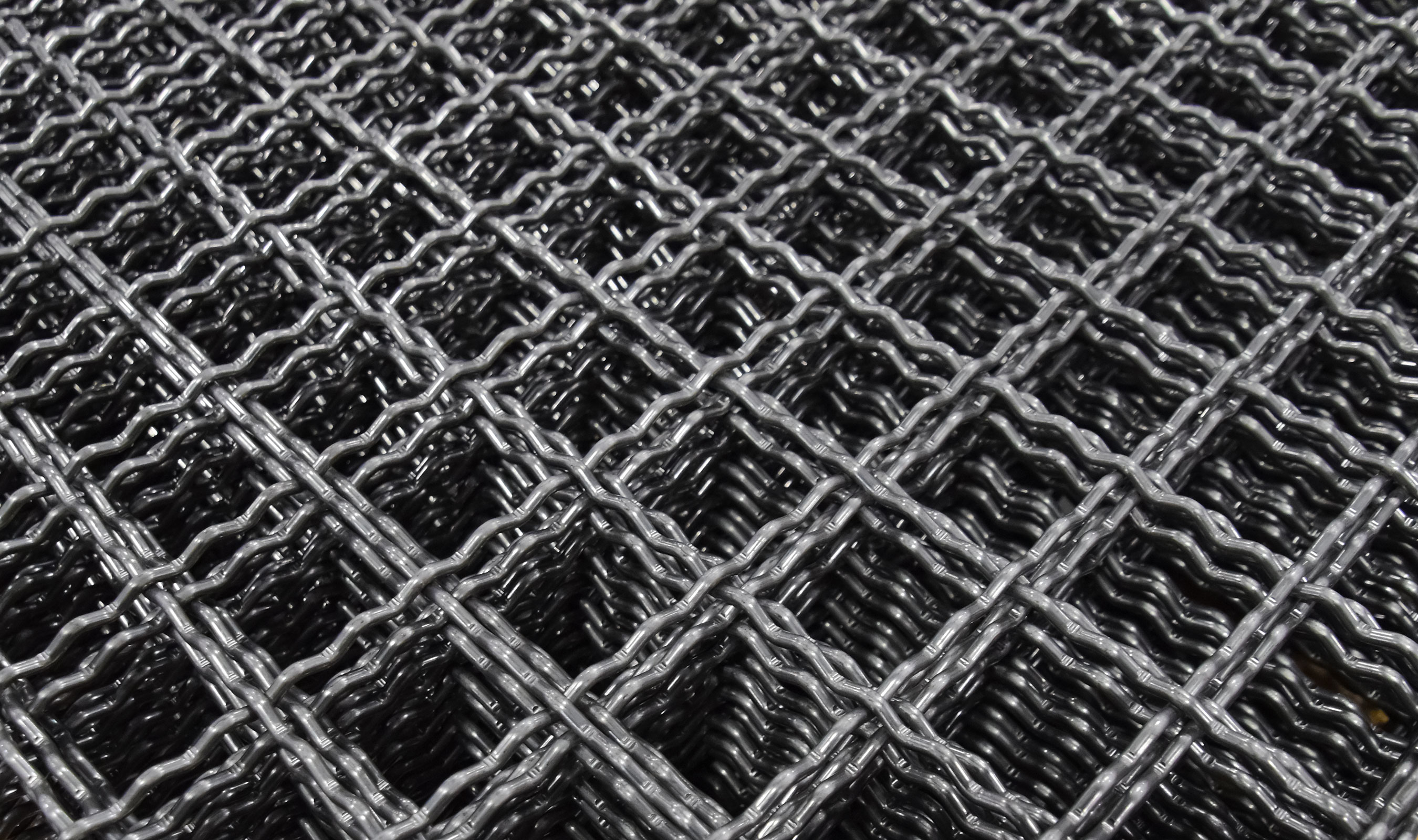 I-48 Intercrimp woven wire mesh in plain steel