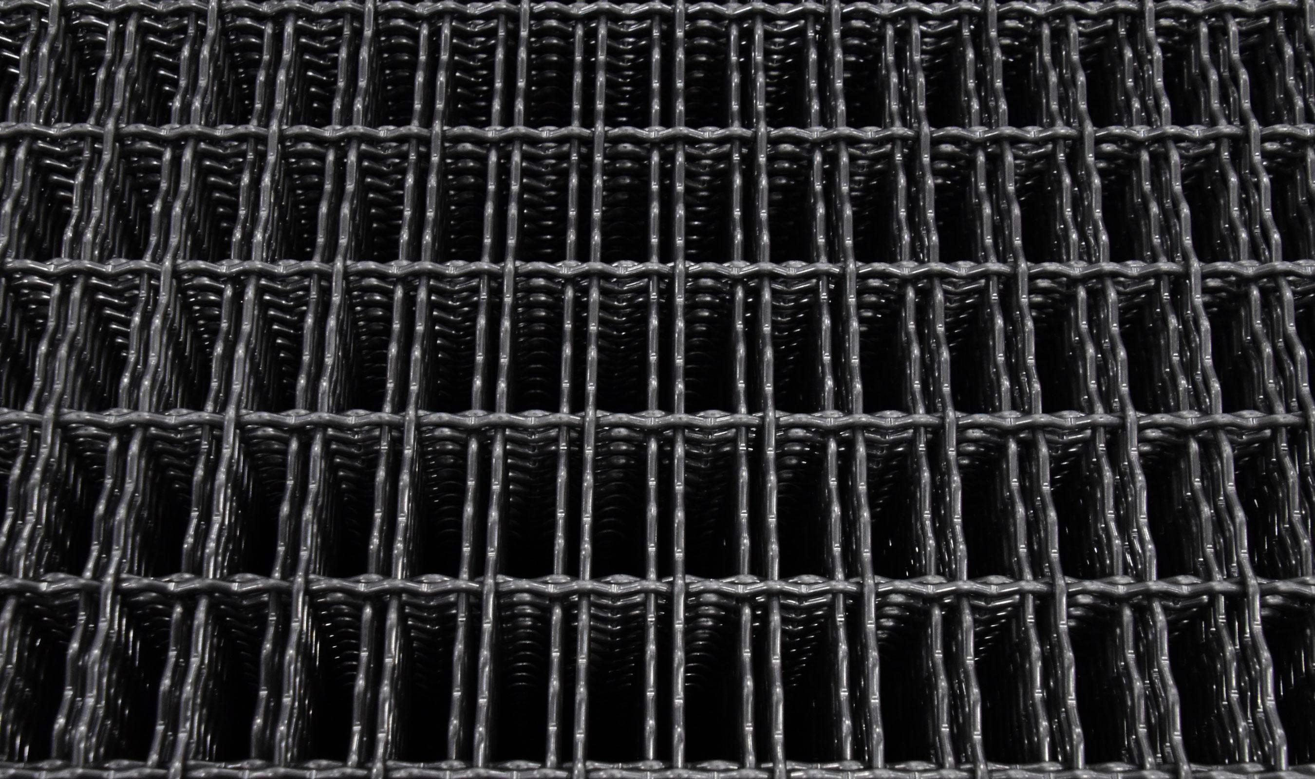 IZ-9 intercrimp woven wire mesh in plain steel