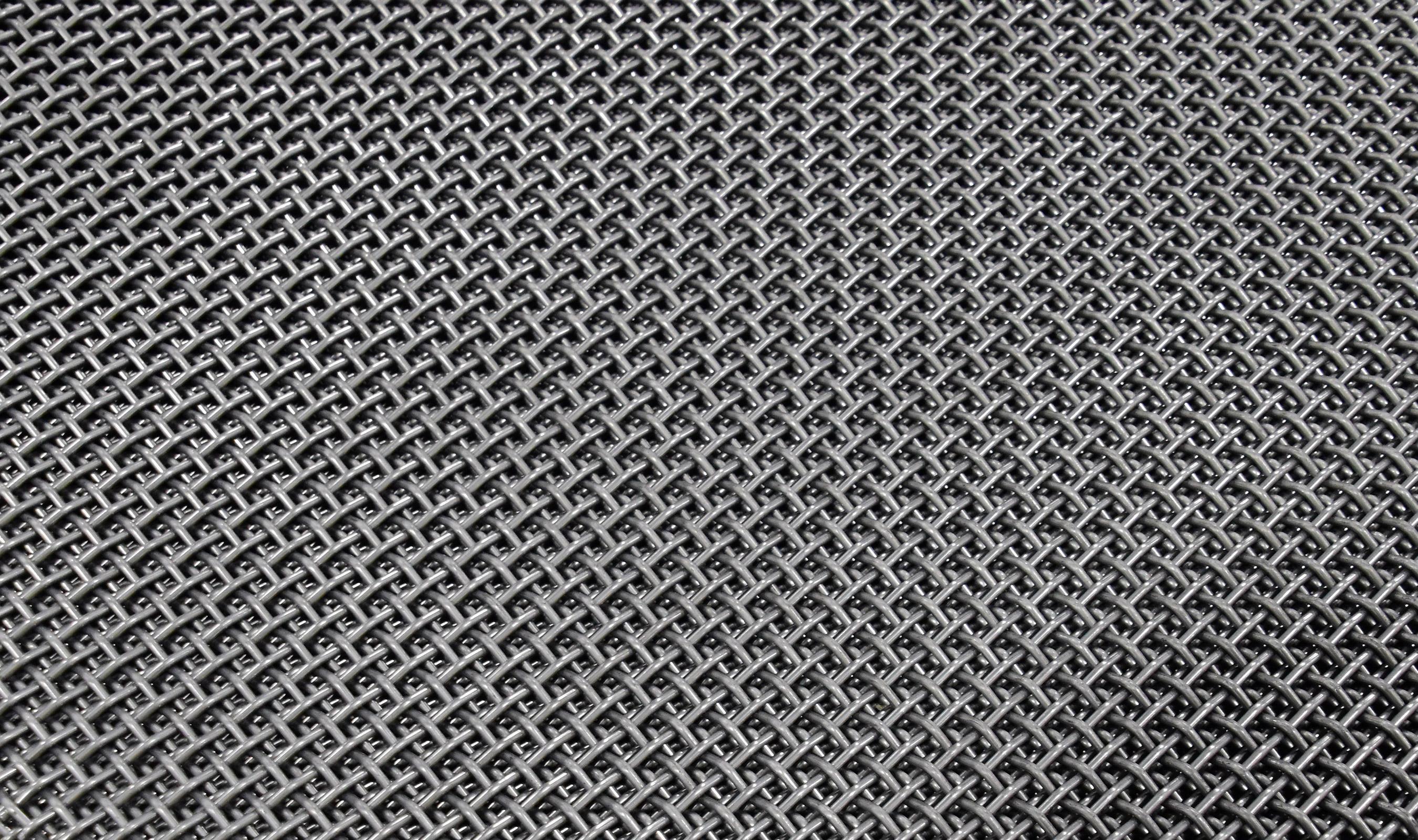 P-33 woven wire mesh in plain steel
