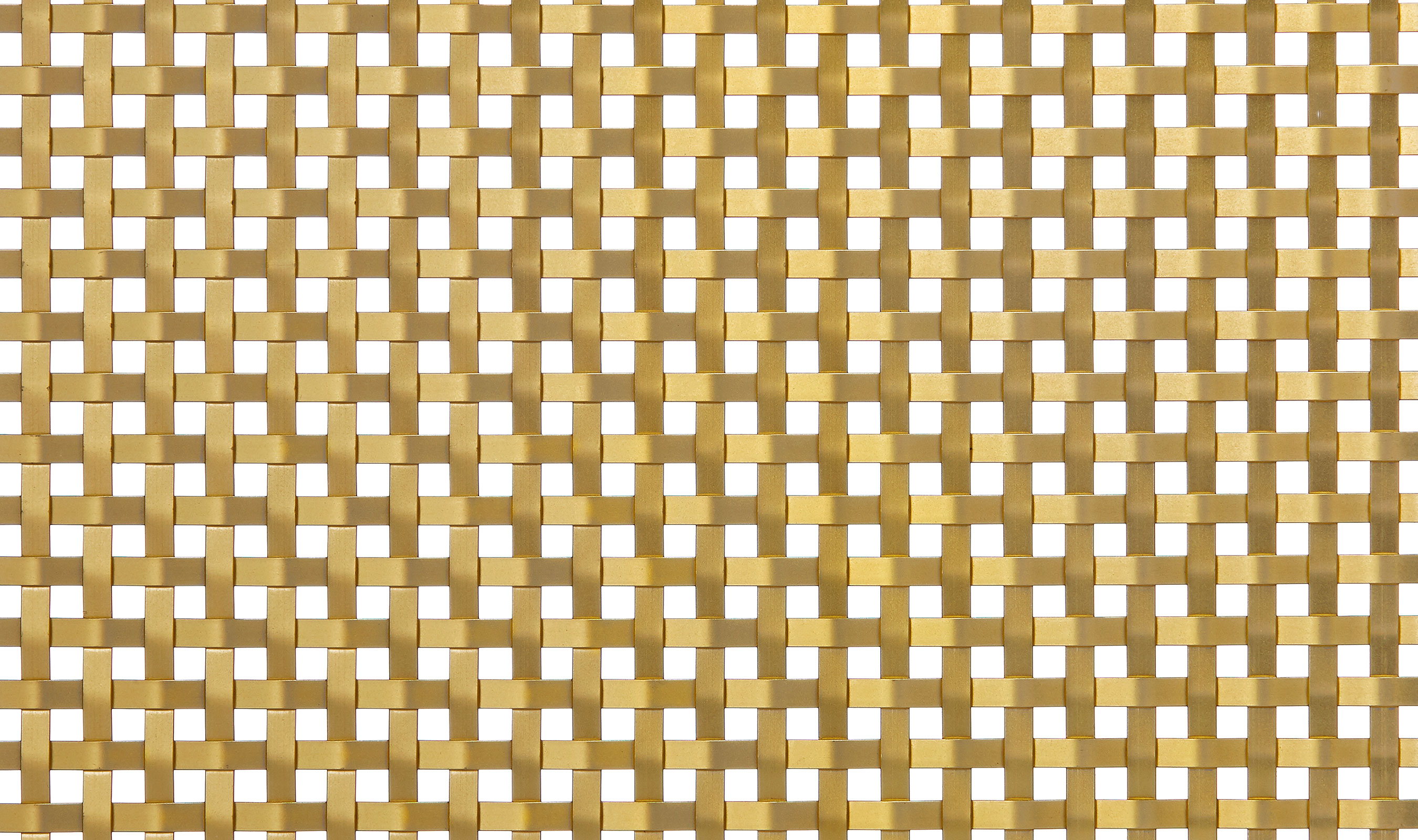 S-30 Satin Brass Plated wire mesh pattern