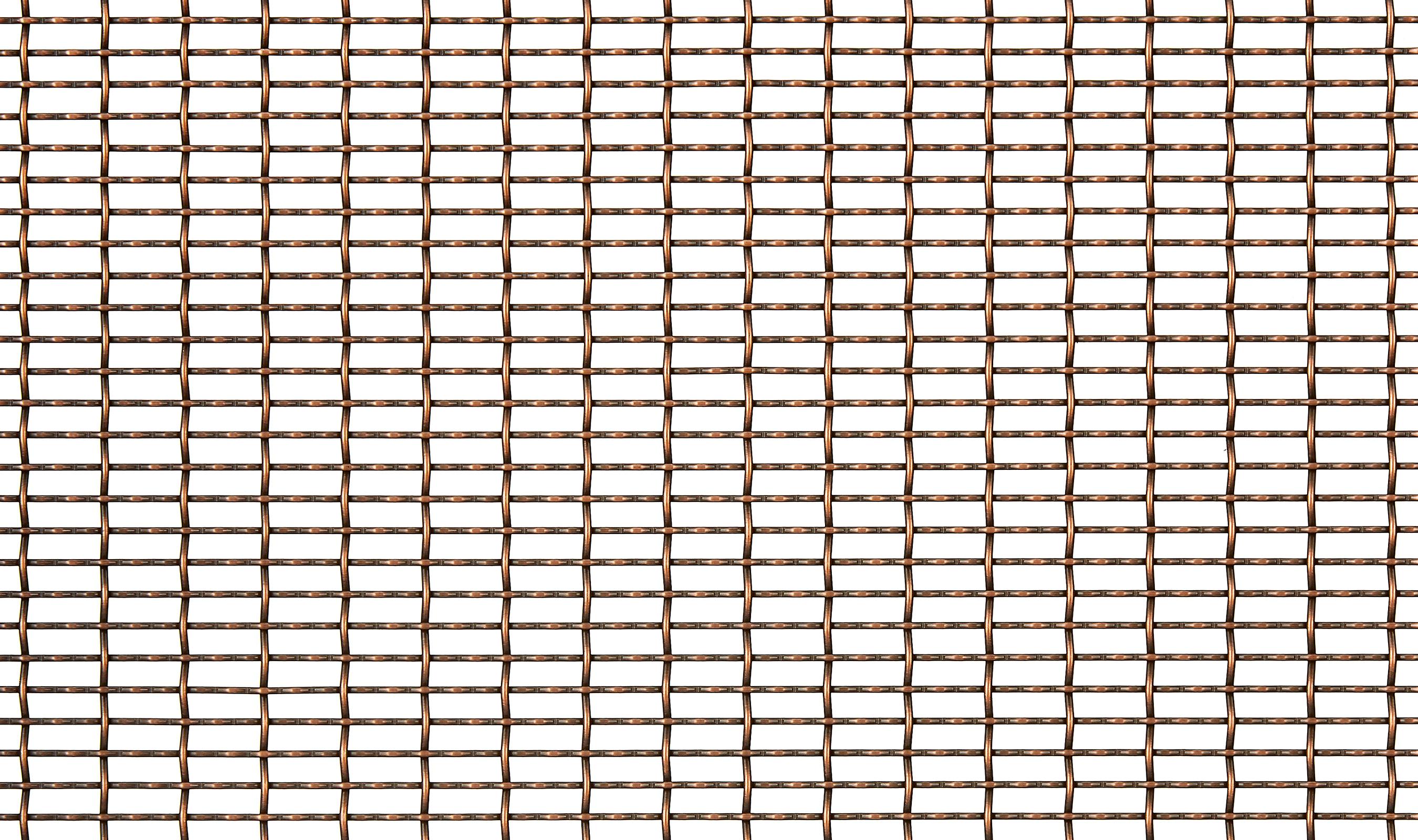 IPZ-33 Antique Copper Plated decorative wire mesh pattern