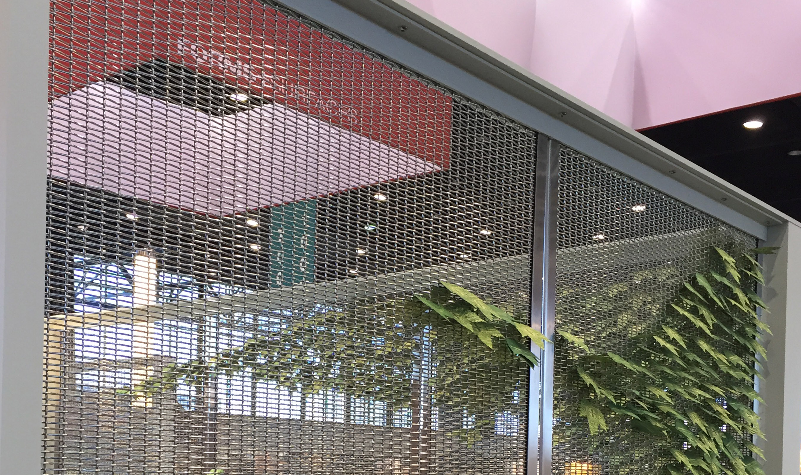 PZ-12 Stainless Steel woven mesh for trade show booth
