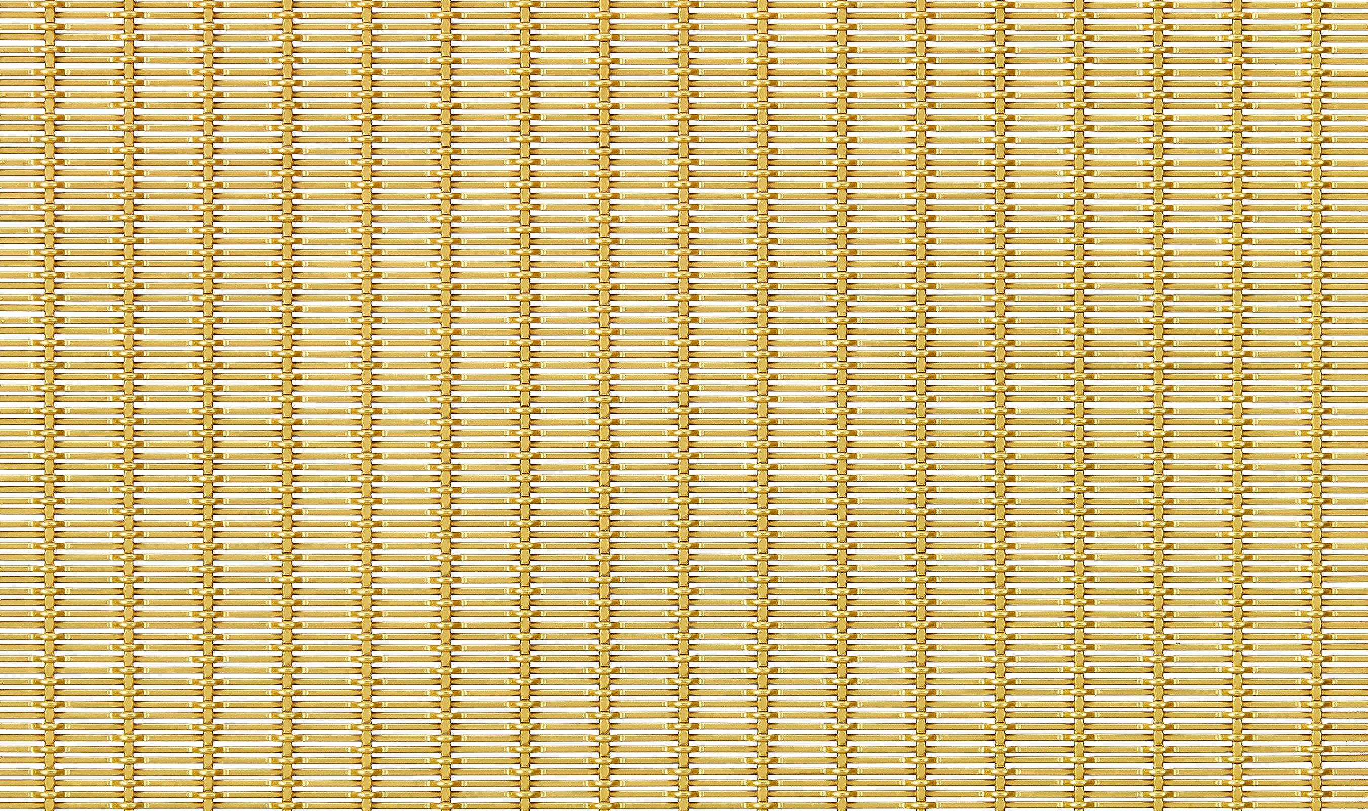 PFZ-43 Satin Brass plated woven wire mesh