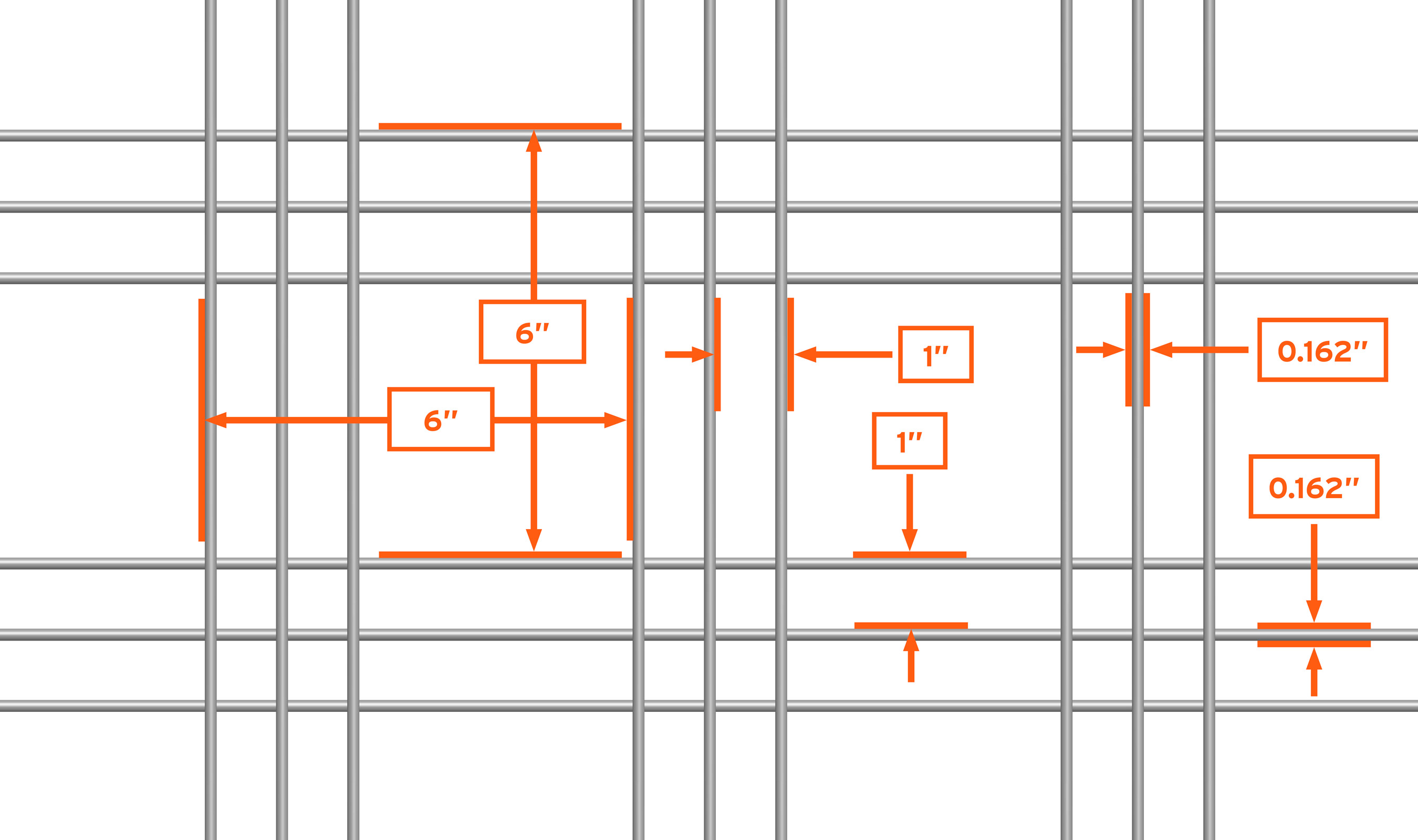WD-303 mesh pattern repeat detail drawing