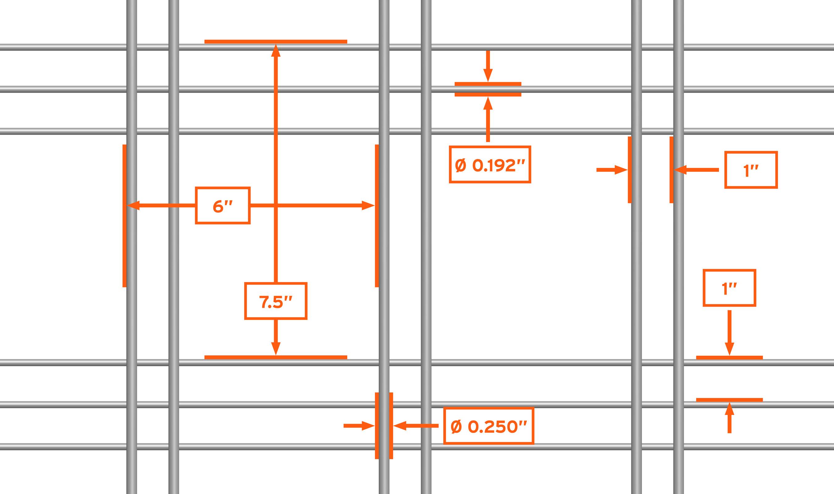 WDZ-542 mesh pattern repeat detail drawing