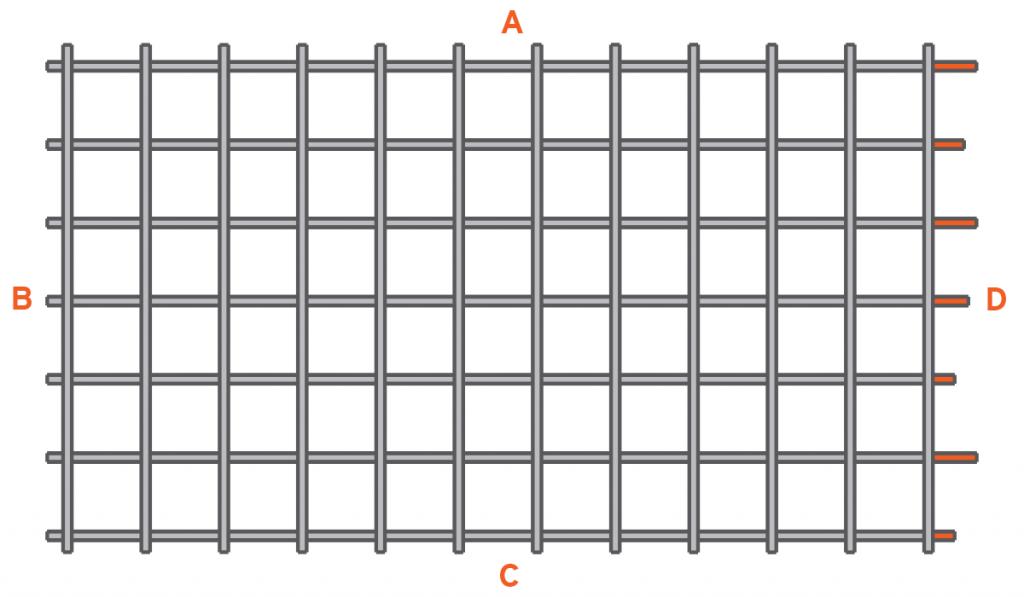 standard back gain, our weld mesh