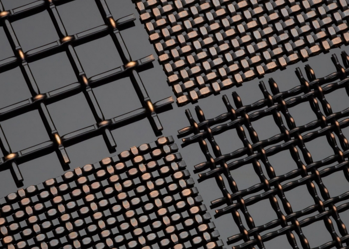 Black Copper Decorative Plating Woven Wire Mesh