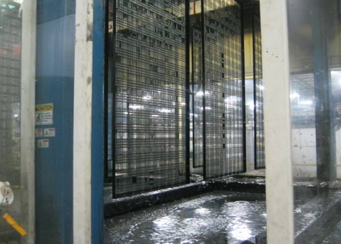 Recommended E-coat process for wire mesh frame assembly before powder coating