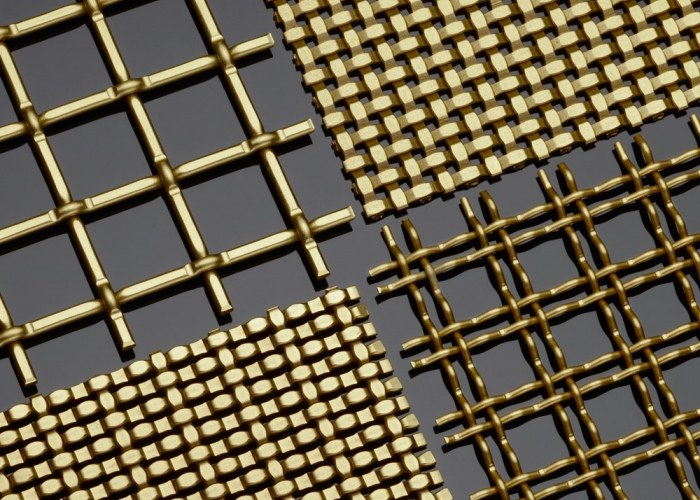 Satin Brass Decorative Plating Woven Wire Mesh
