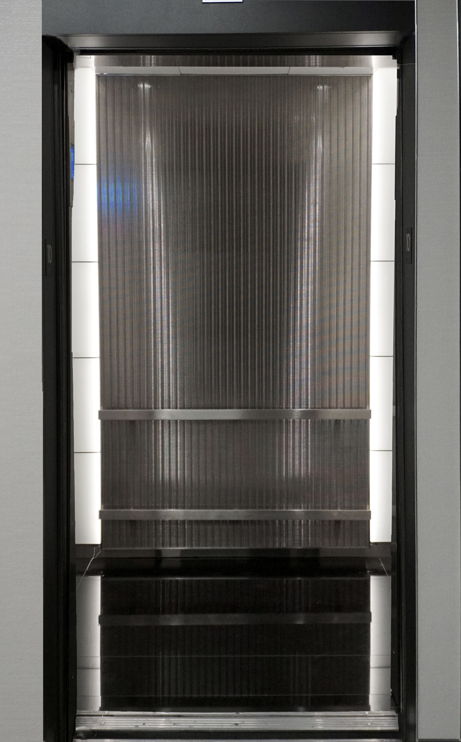 Banker Wire's DF-6 adds a sophisticated look while still providing durability as elevator cladding.