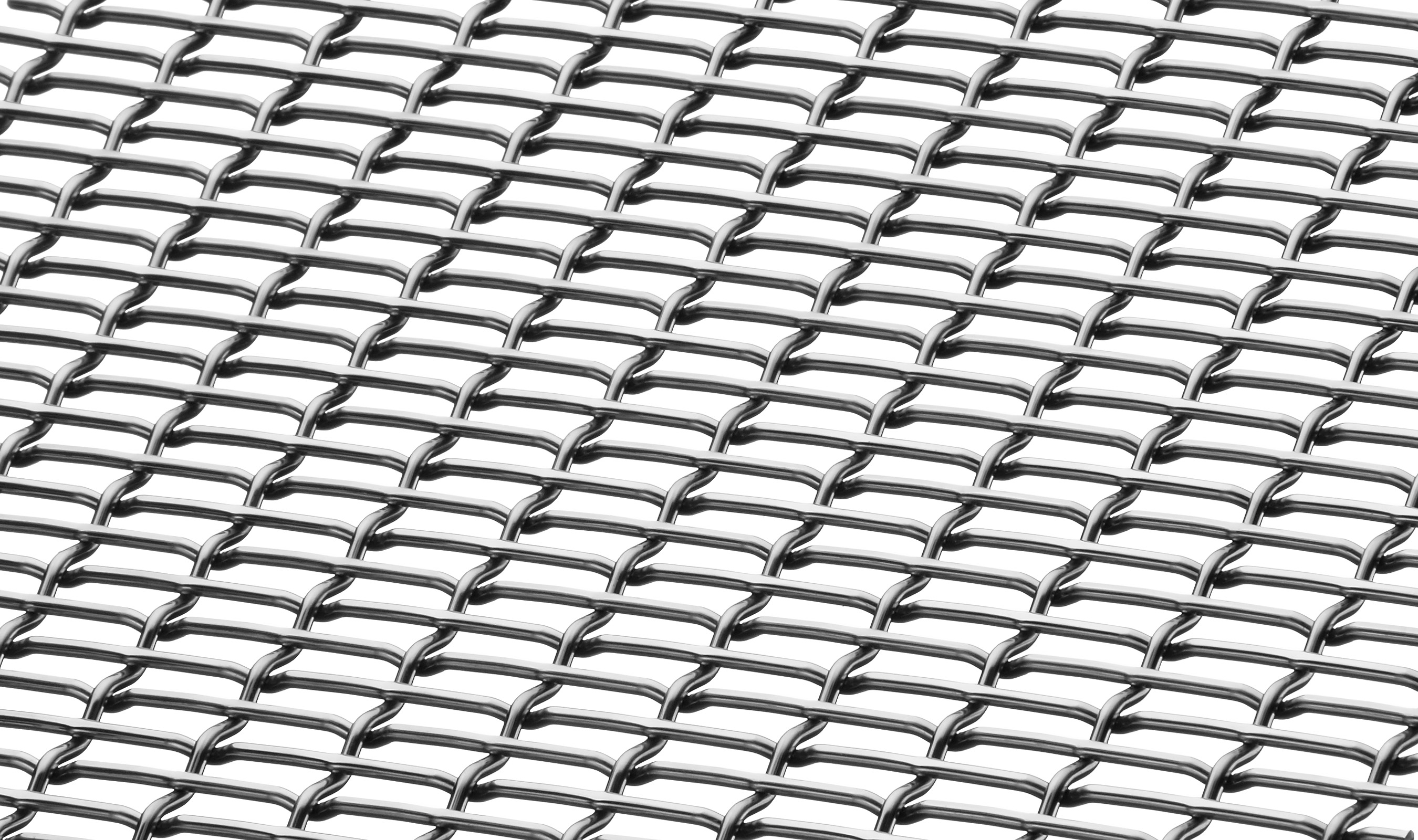FPZ-10 architectural rectangular wire mesh pattern in stainless steel