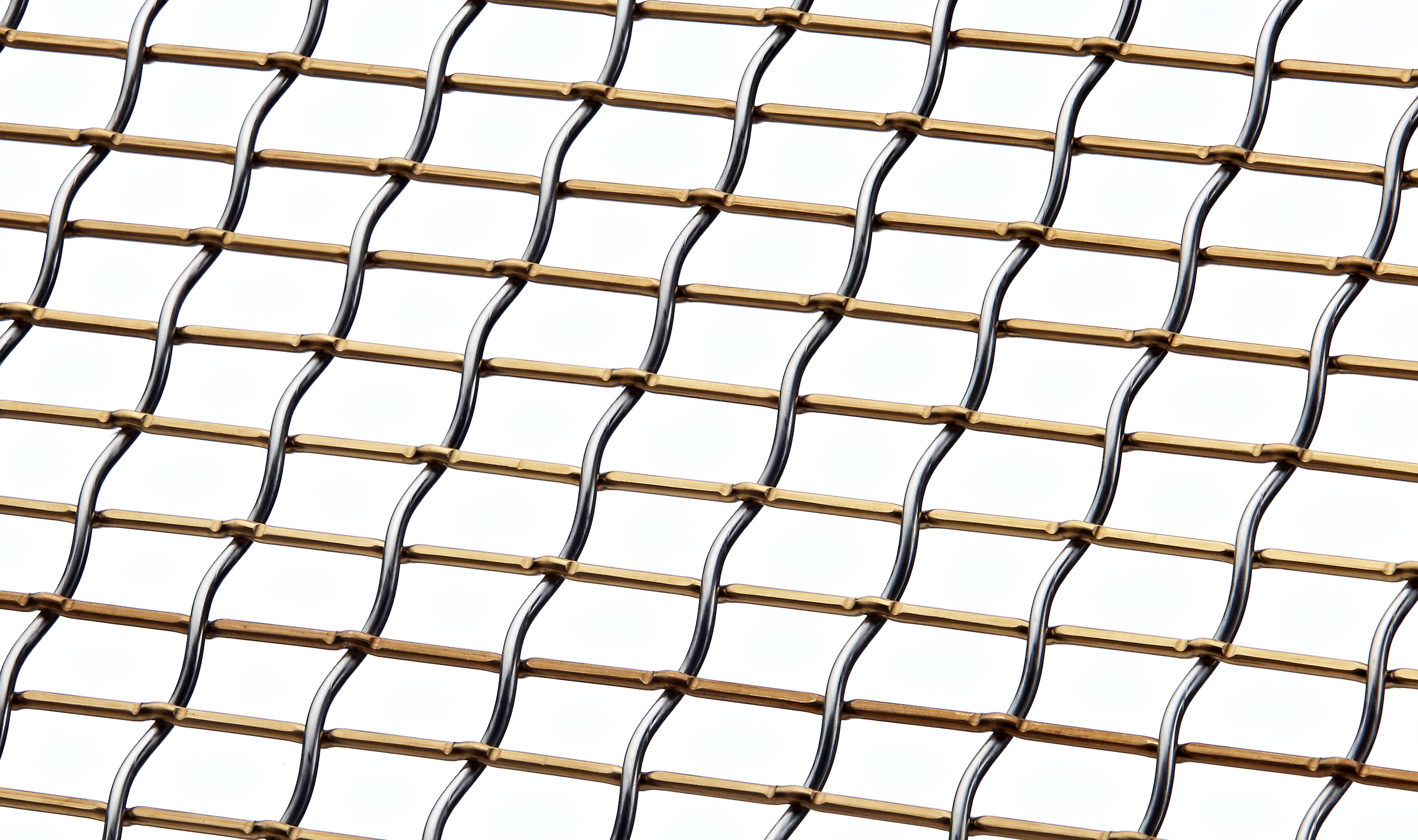 LHZ-1 Woven wire mesh in Stainless Steel and Bronze