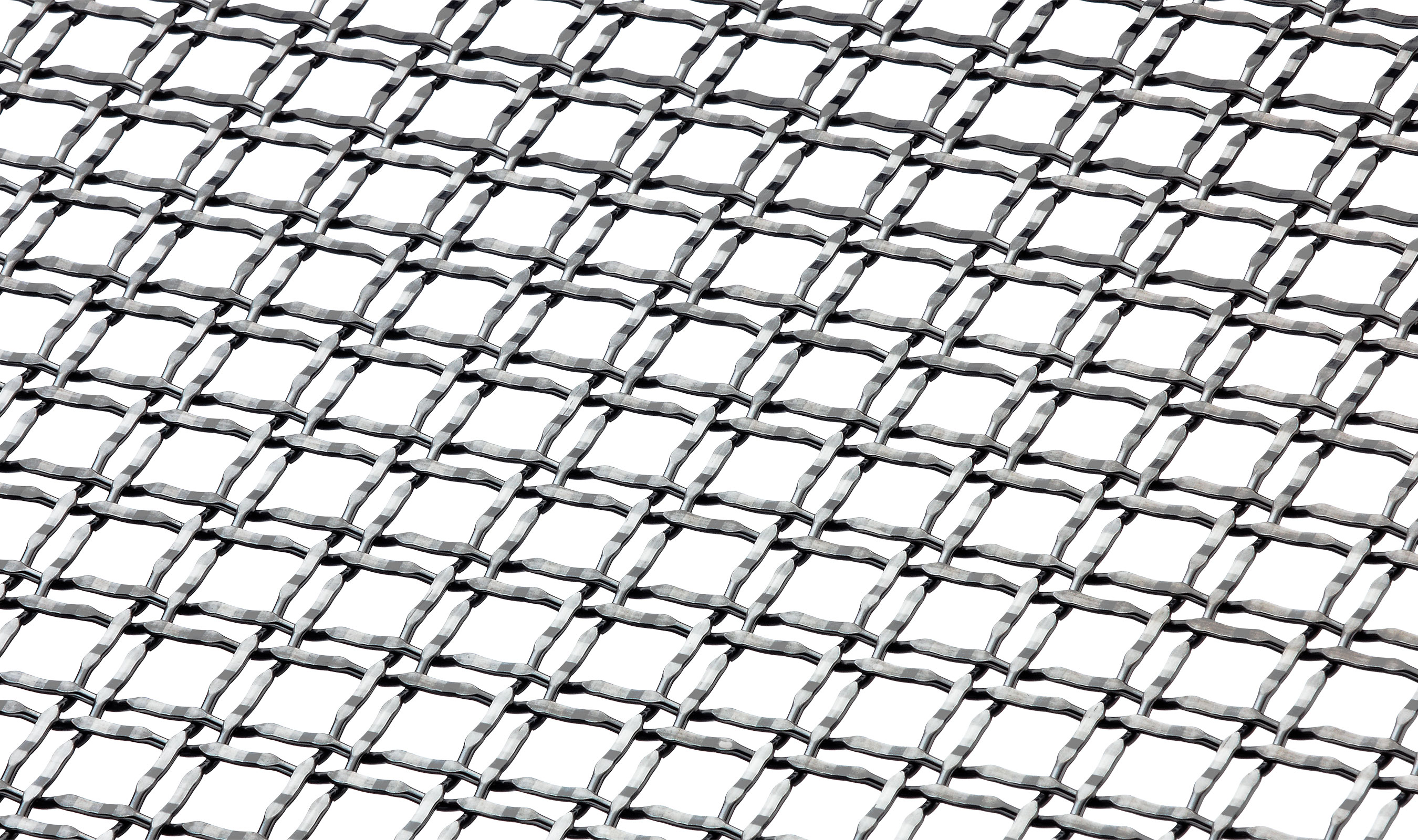 M22-22 Front Angle in Stainless Woven Wire Mesh