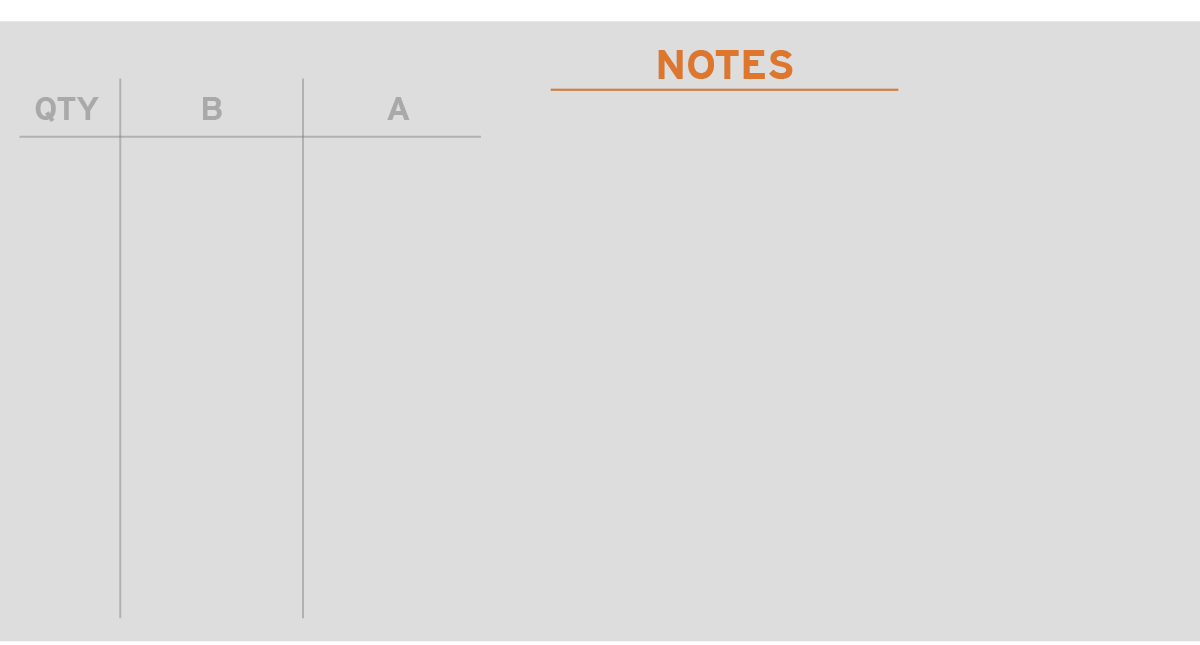 special notes sections