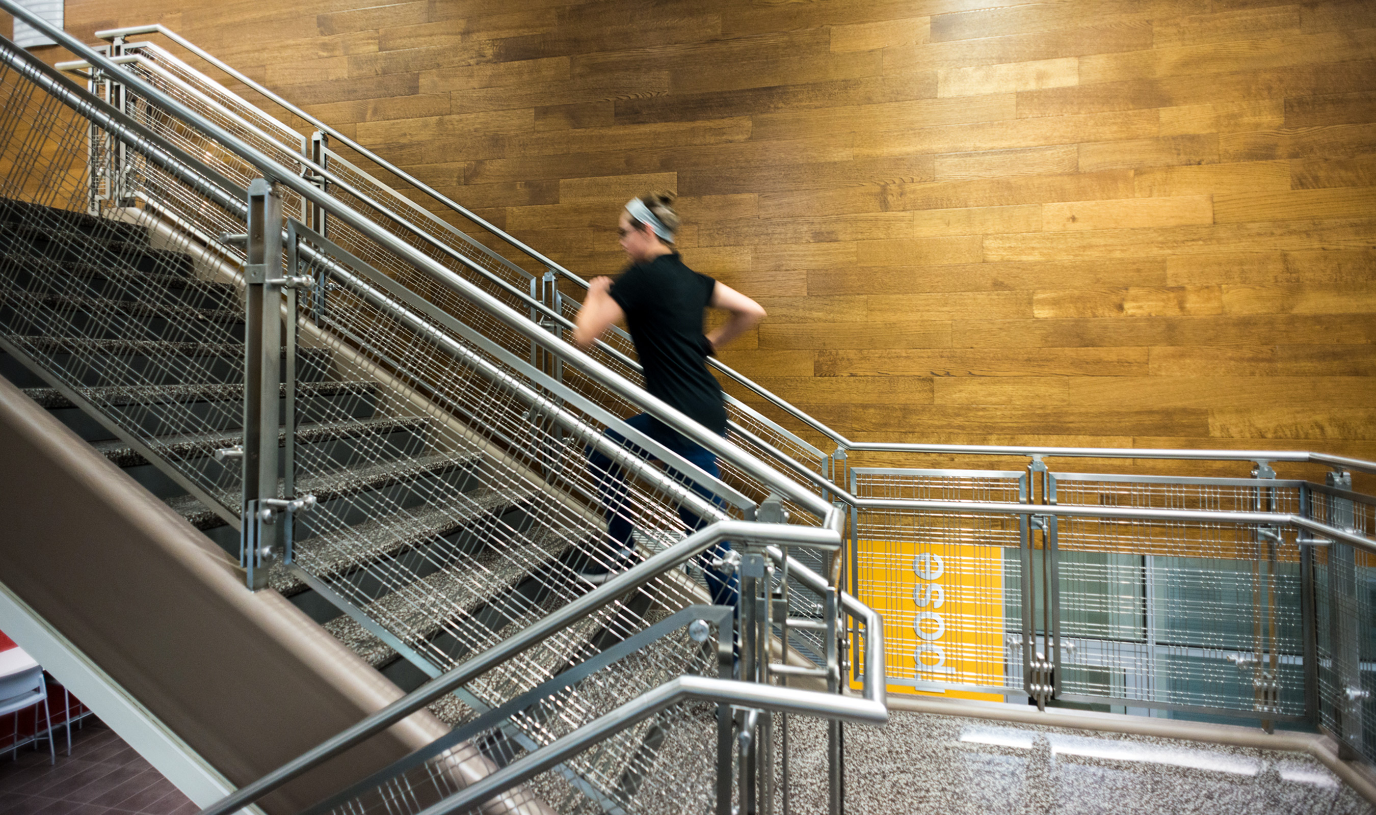 Austin Community College's Elgin Campus was designed with railings using Banker Wire stainless steel wire mesh