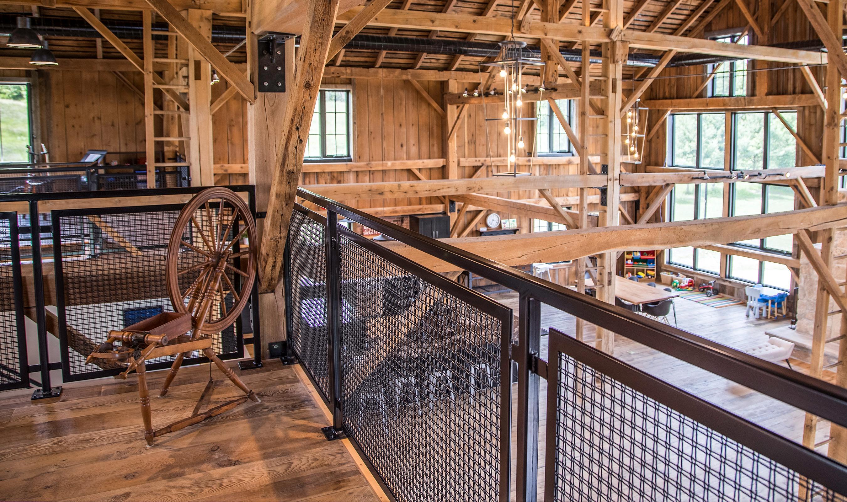 Barn Home wire mesh railing