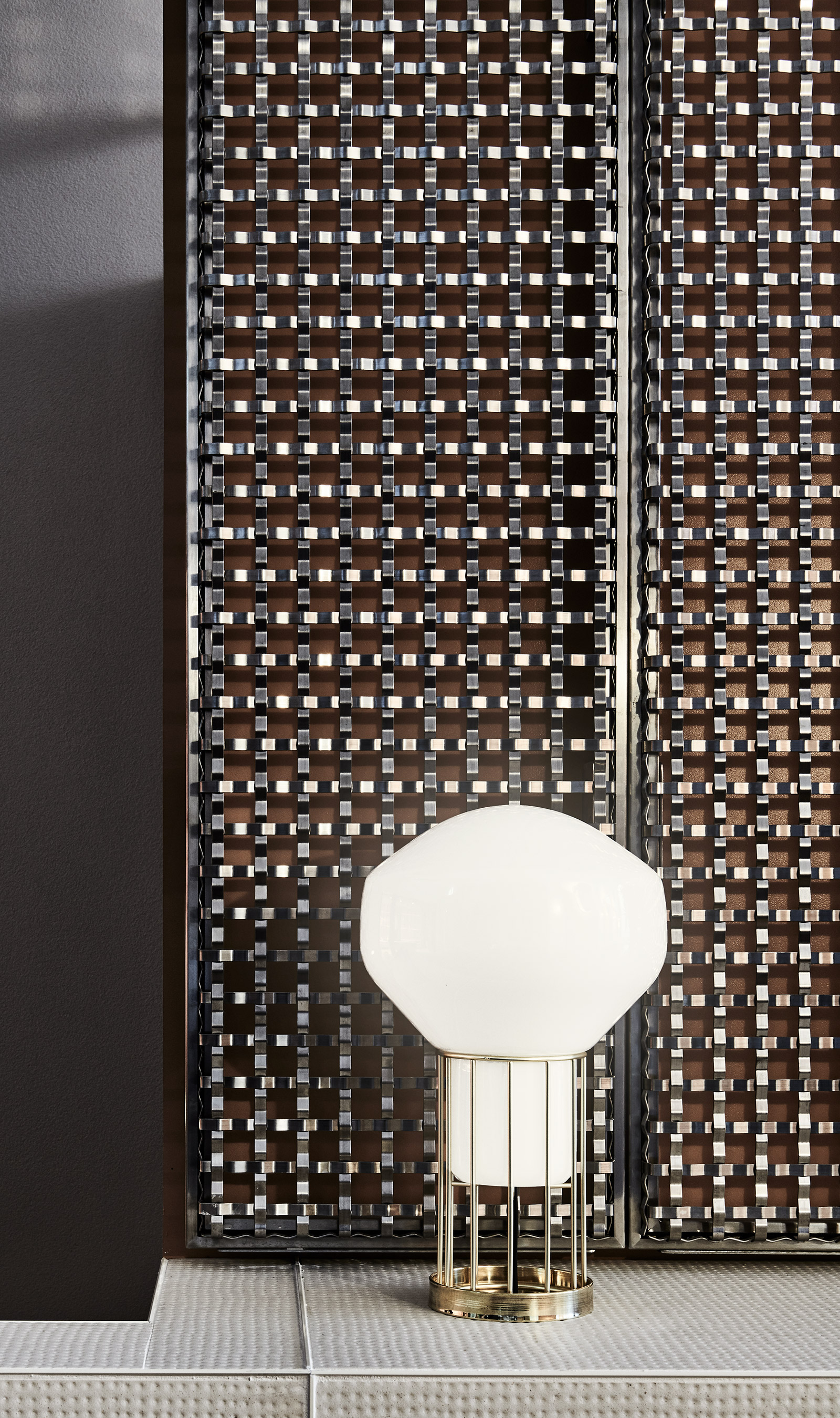 Sunlight reflects off the flat wire pattern of S-15 creating a sparkle and unique visual texture to the room.