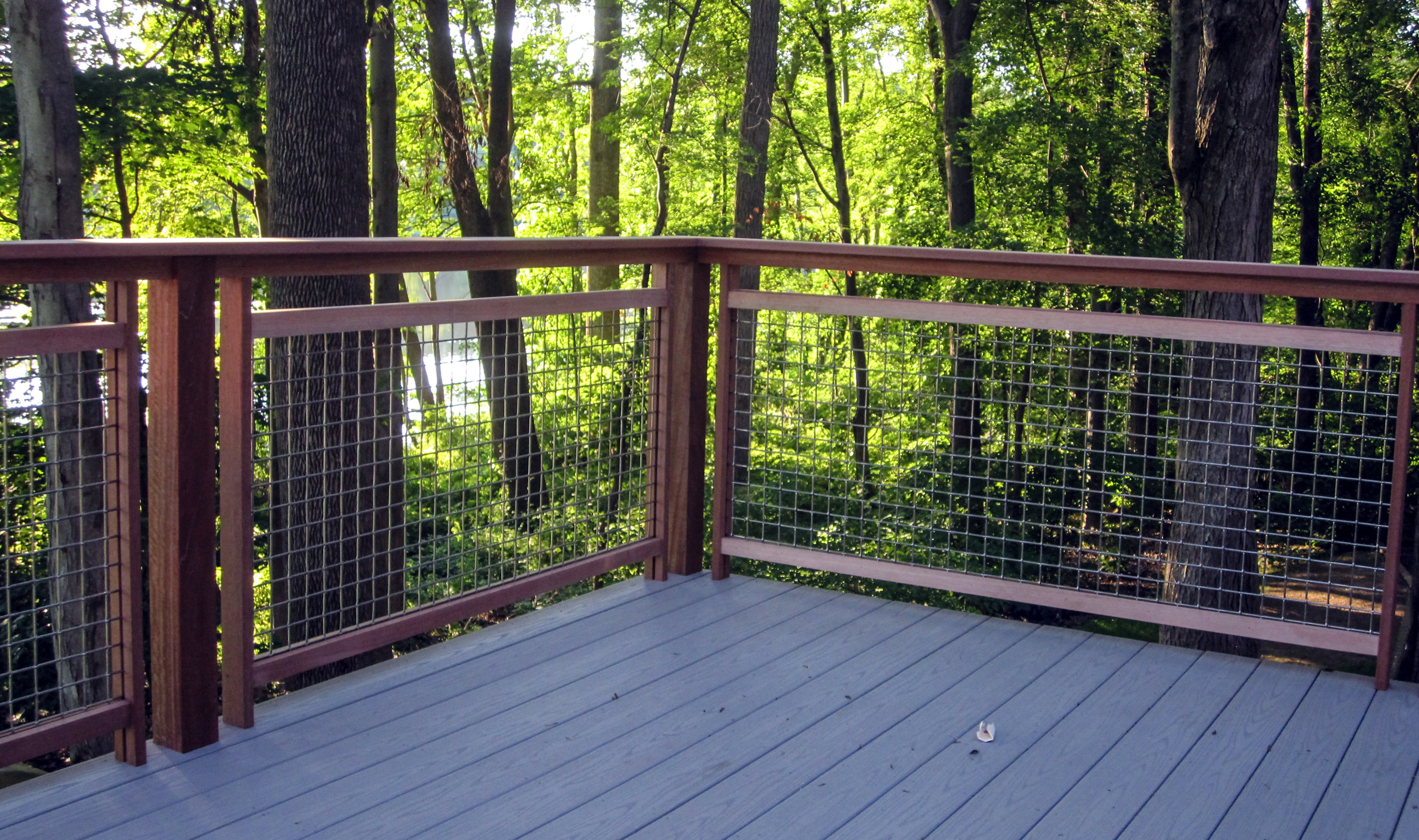 Banker Wire architectural mesh allows for uninterrupted views of this beautiful backyard.