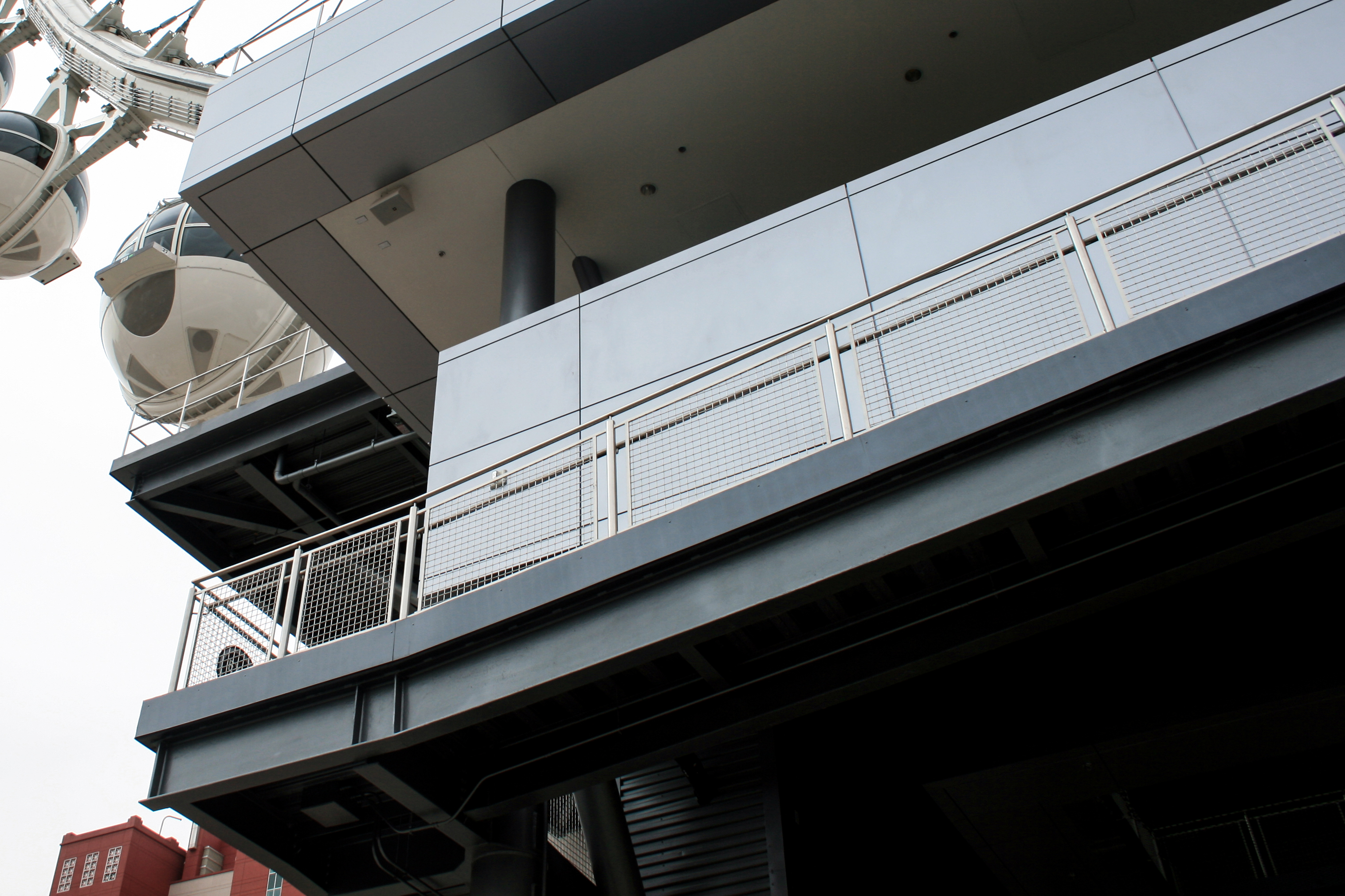 L-62 metal fabric is ideal for providing fall protection and withstanding heavy use at the popular destination.