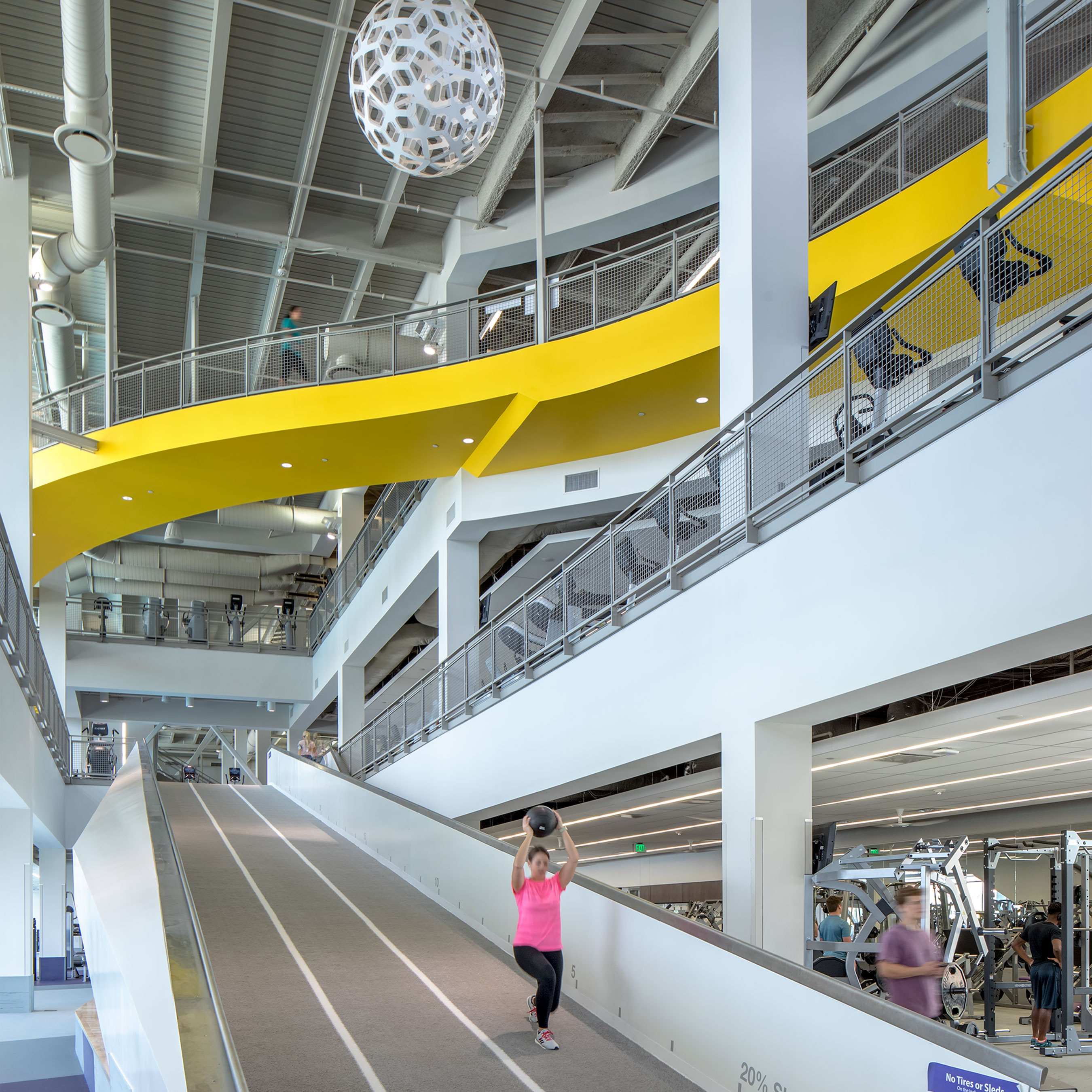 """Designed around a philosophy promoting """"healthy building for healthy bodies,"""" the new UREC facility is designed to capture the attention of students."""