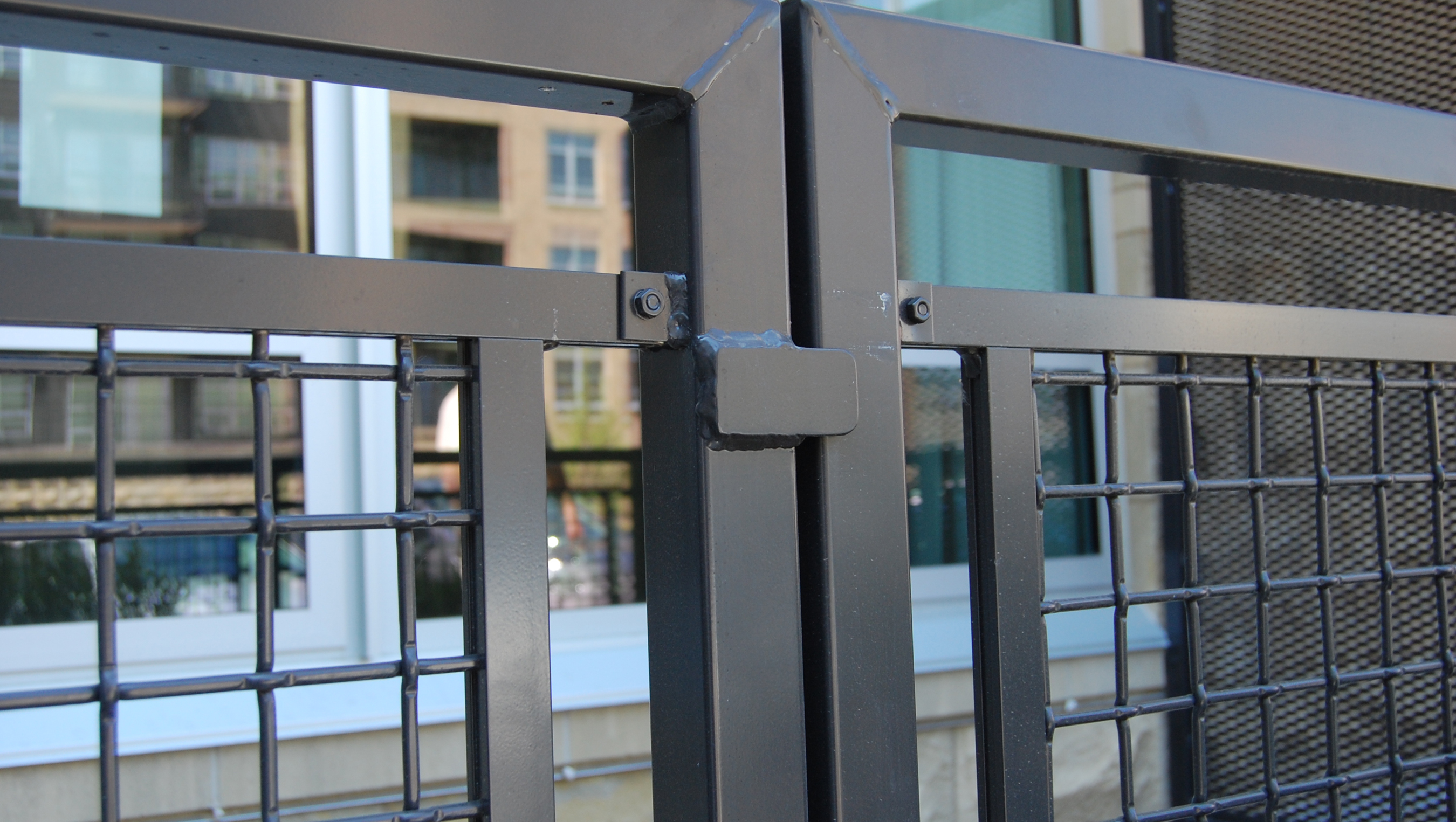 """Panels of Banker Wire aluminum mesh with 2"""" spacing from heavy .250"""" diameter wire were made for balcony and stair railings at The Lyric at Carleton Place."""