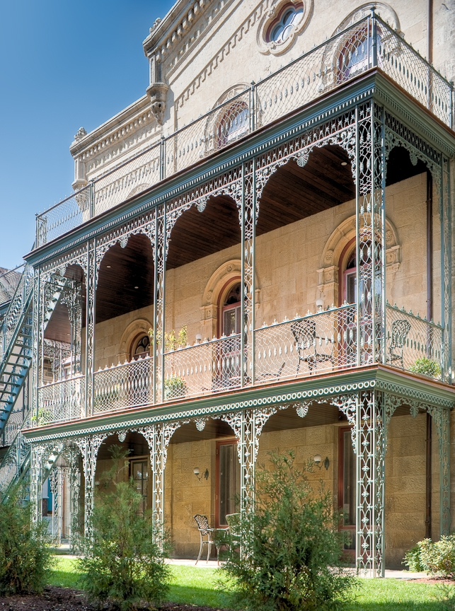 Thanks to the restoration efforts of Banker Wire, the Madison, WI bed and breakfast's ornamental ironwork will continue to charm guests and passersby for years to come.