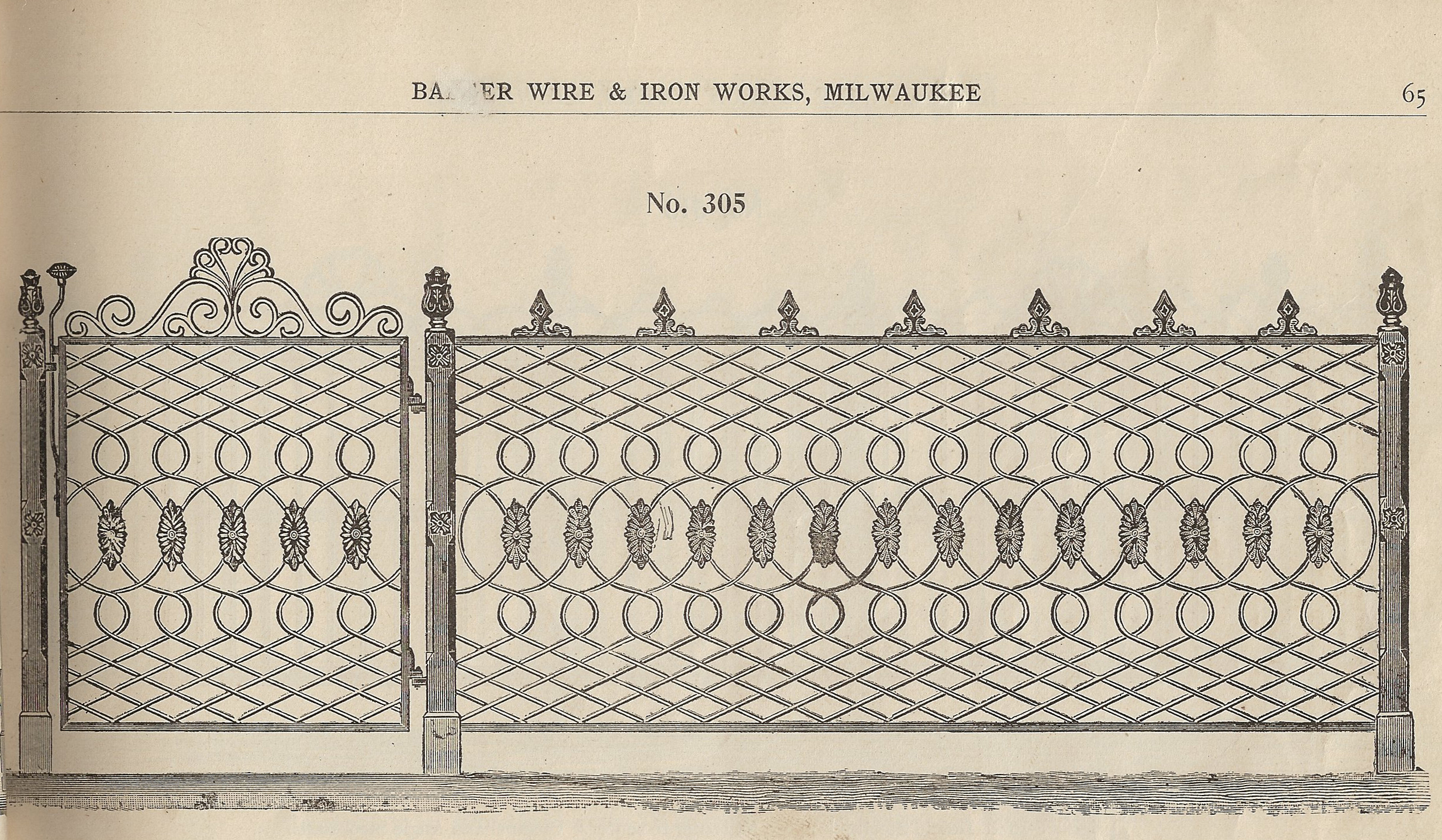 Banker Wire created a unique die to duplicate the original ironwork's slightly irregular decorative crimping patter