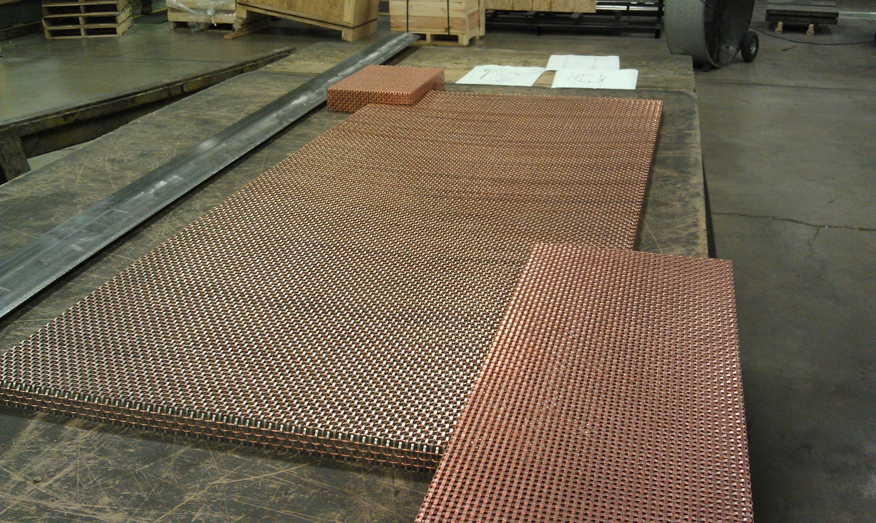 Each wire mesh panel was cut and formed to create a seamless fit.