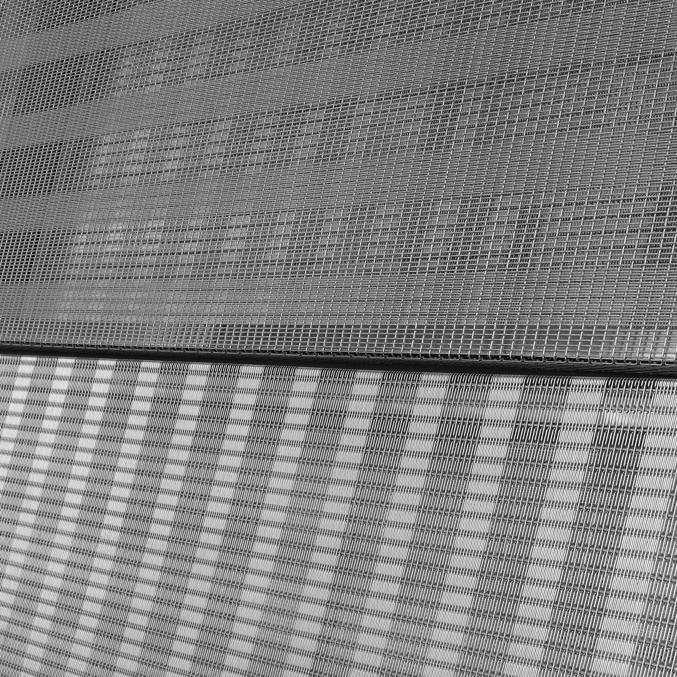 PFZ-53 is a wire mesh pattern created by Banker Wire, distinguished by its changes in wire frequency to create a striped pattern.