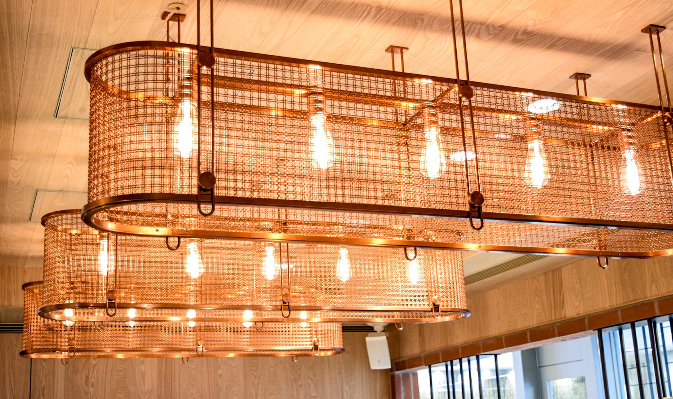 M22-28 wire mesh light fixtures
