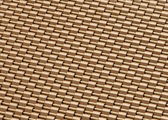 Banker Wire Champagne PVD finish on DS-1 wire mesh pattern