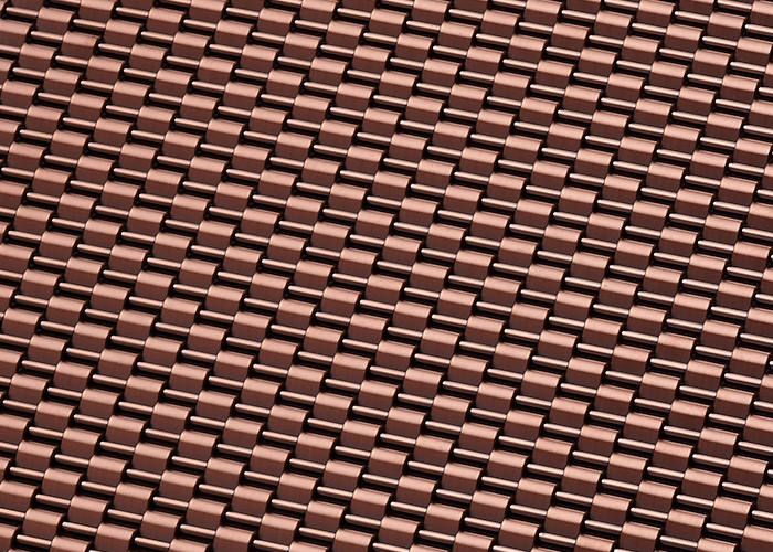 Banker Wire Chocolate PVD finish on DS-1 wire mesh pattern
