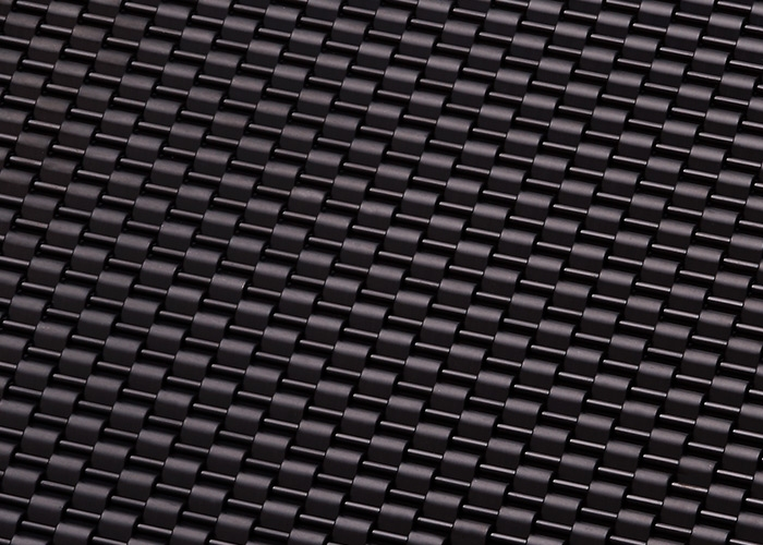 Banker Wire Gunmetal PVD finish on DS-1 wire mesh pattern