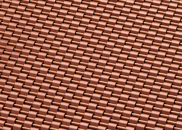 Banker Wire Rose Gold PVD finish on DS-1 wire mesh pattern