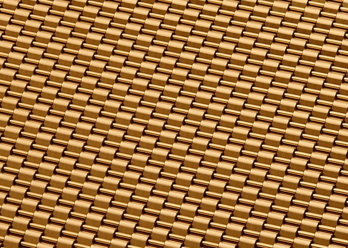 Banker Wire Royal Gold PVD finish on DS-1 wire mesh pattern