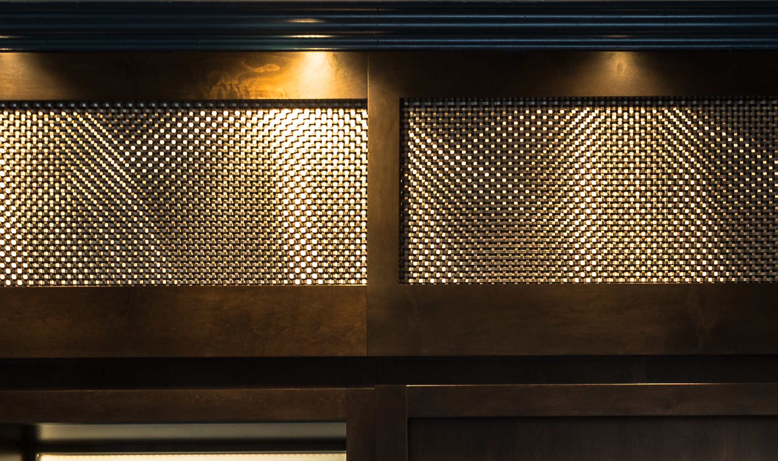Metal against wood is a timeless accent, drawing out the beauty and warmth of wood with the coolness of stainless steel.