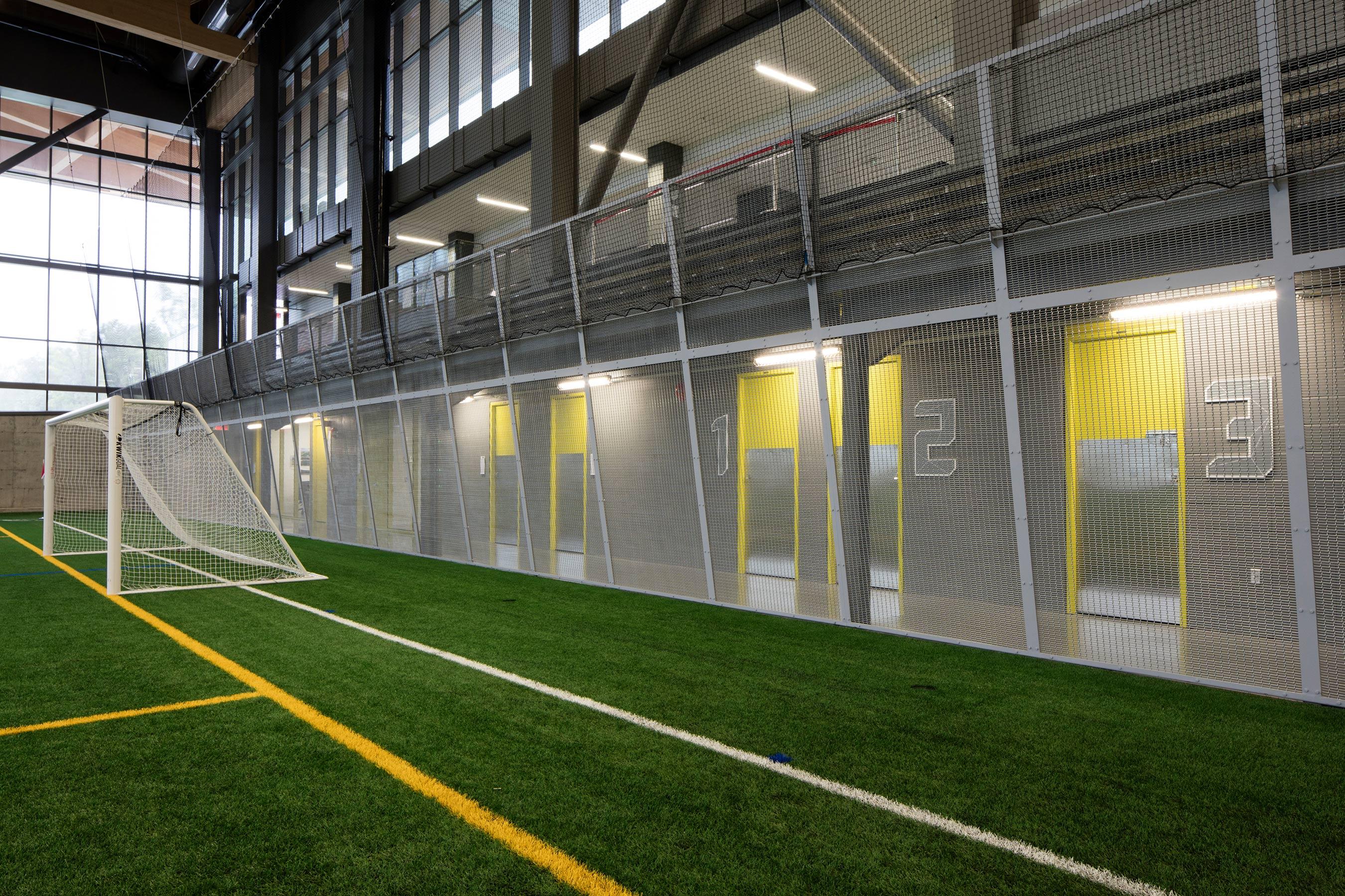 Stade de Soccer de Montréal using M12Z-17 as a safety enclosure and railing