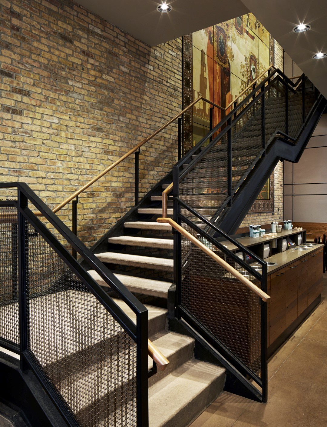 Woven wire mesh is both chic and not intimidating, for the perfect retail look.